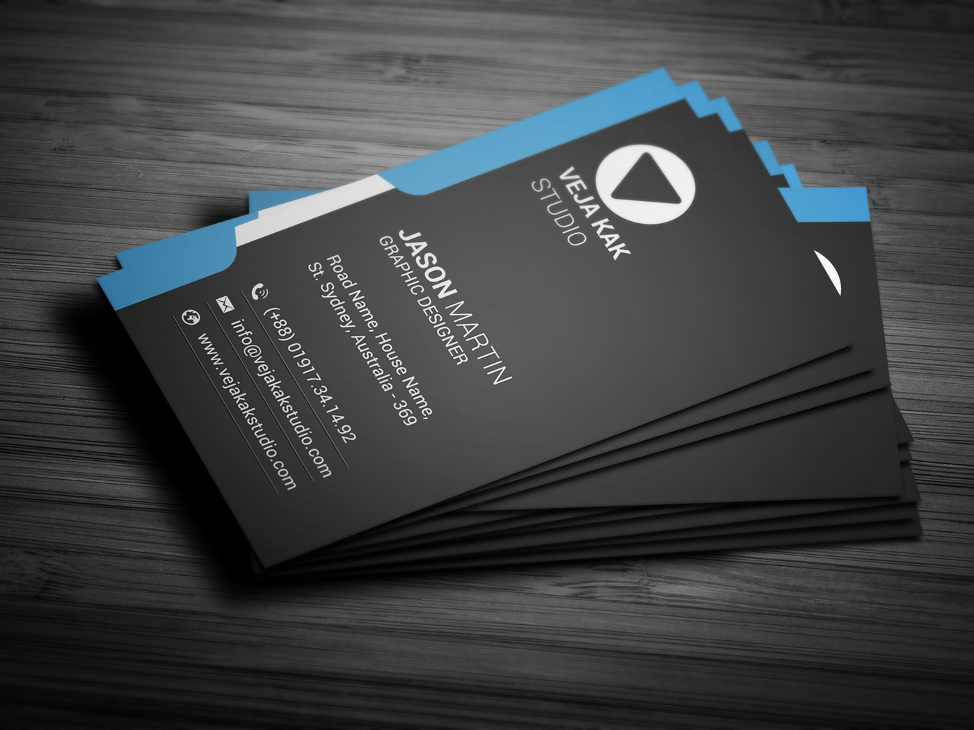 Vertical Business Card Design on Behance