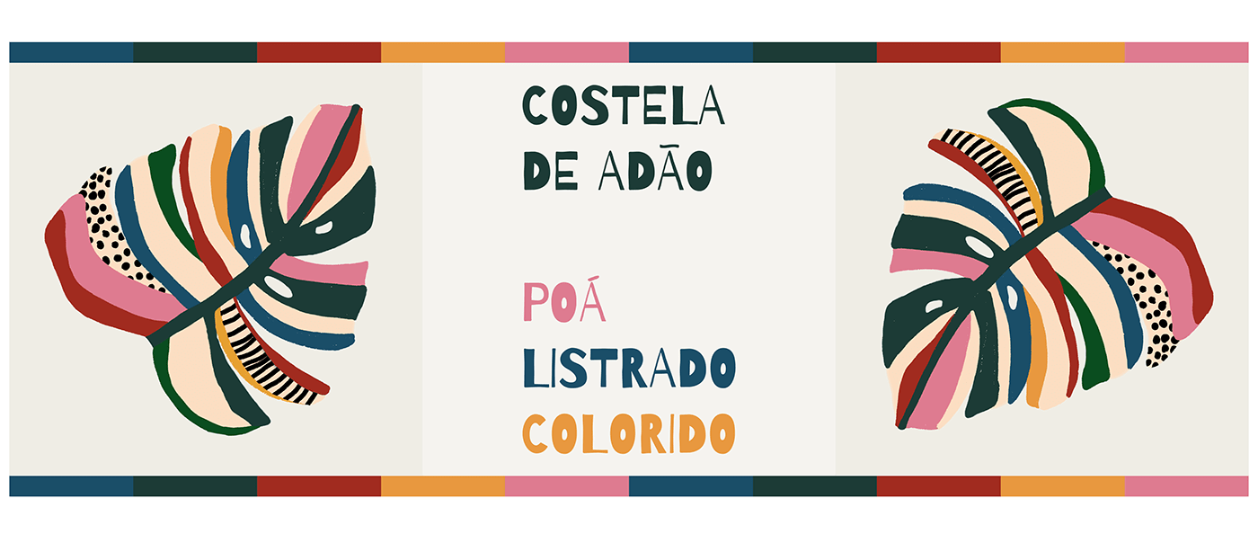 design de superfície Digital Art  estampa carioca Estamparia folhagens Ilustração pattern