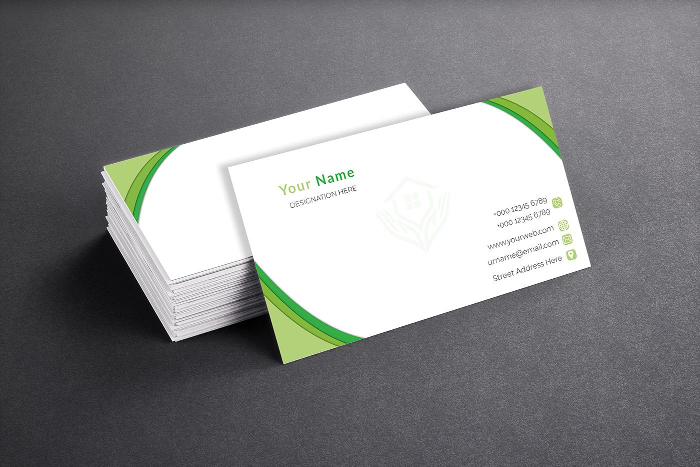 free business card print design on behance