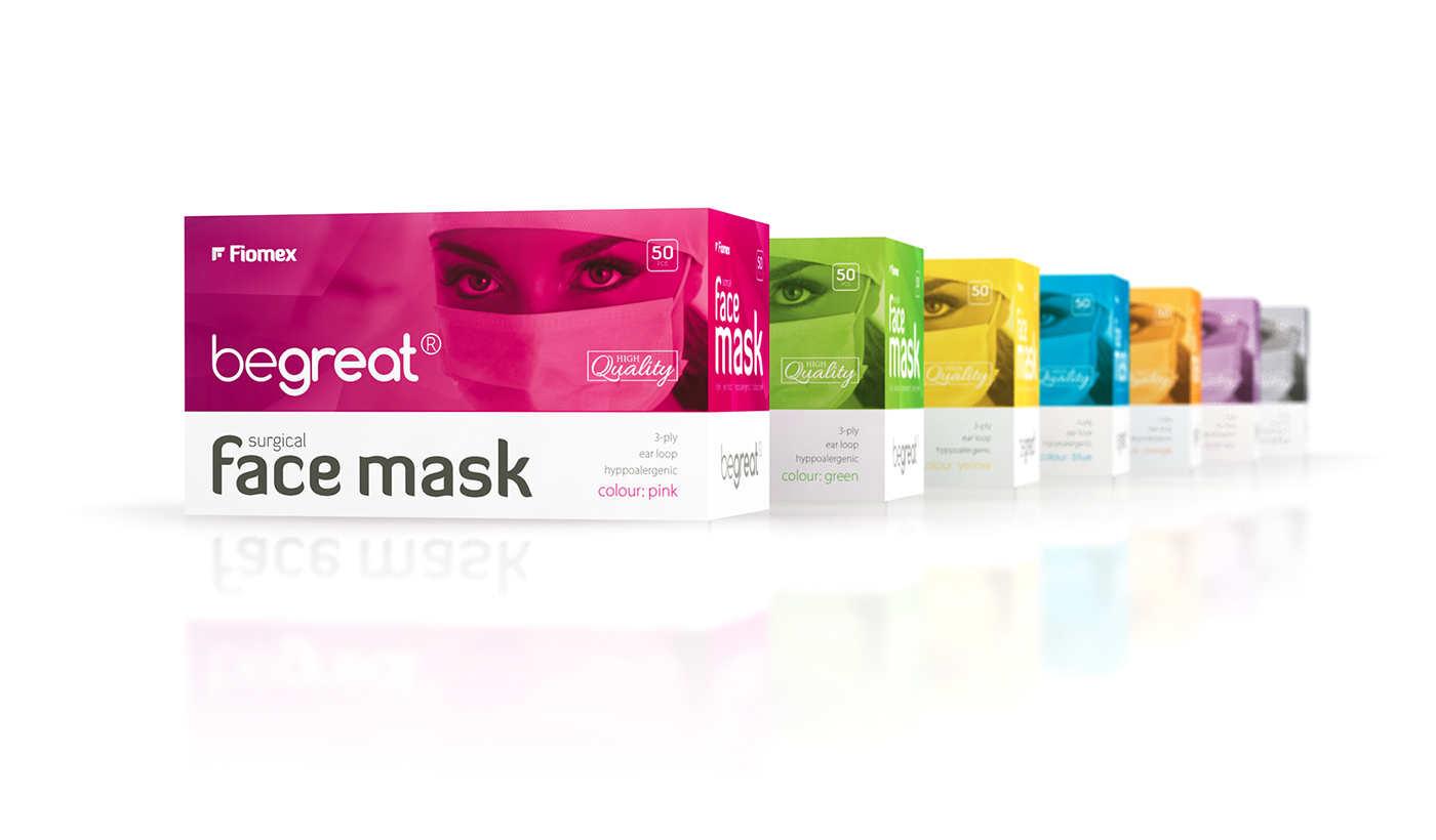 Surgical face mask - packaging design on Behance