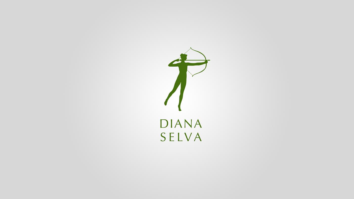 visual identity forest Mushrooms diana selva Hunting logo Logotype