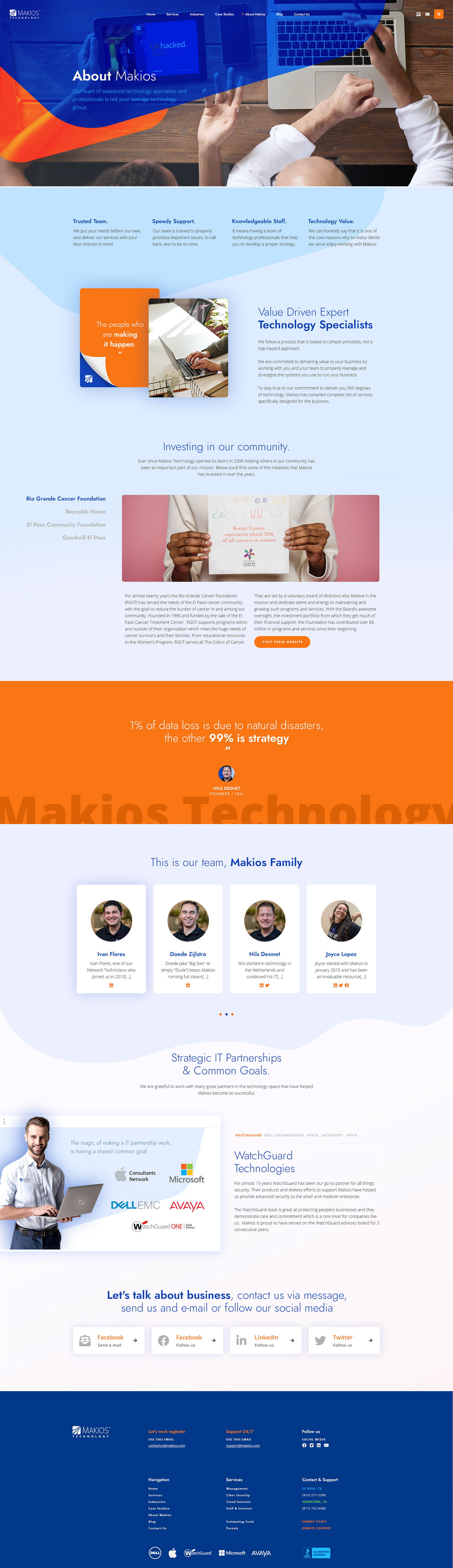 el paso IT makios redesign Responsive Website