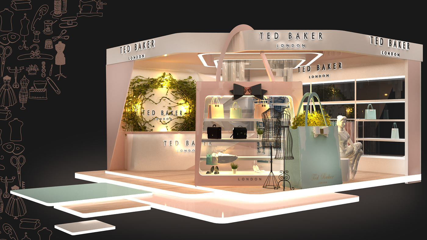 Exhibition Booth London : Ted baker booth on behance