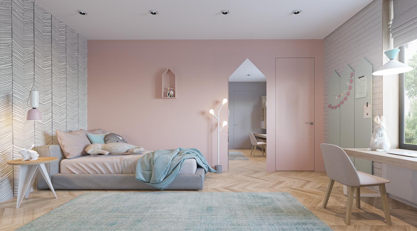有美感的18套粉紅色房間欣賞
