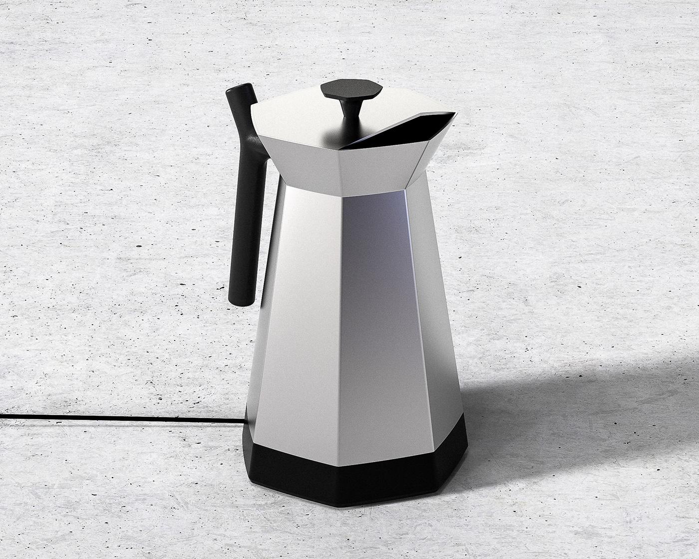 Applience   AR chris chris ference industrial design  kettle design paper modeling Prototyping rendering vr