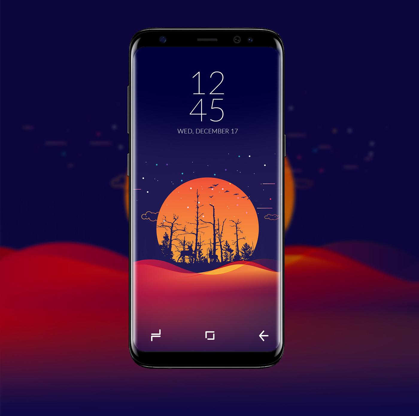 Samsung Galaxy S8 Theme Wallpaper On Behance