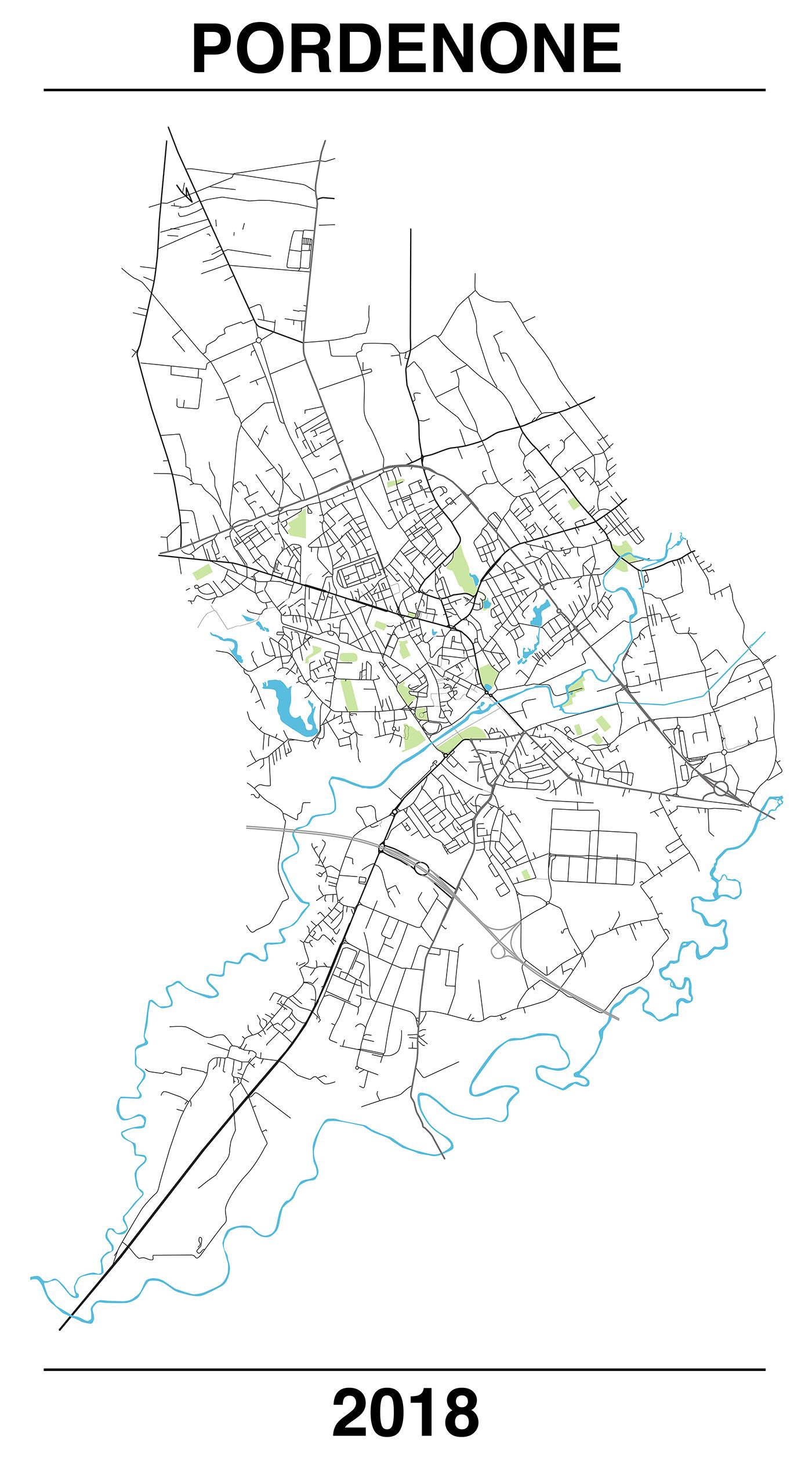 pordenone Mappa maps minimal