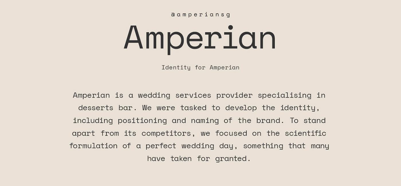 ufho graphic singapore creative amperian wedding dessert identity logo colours