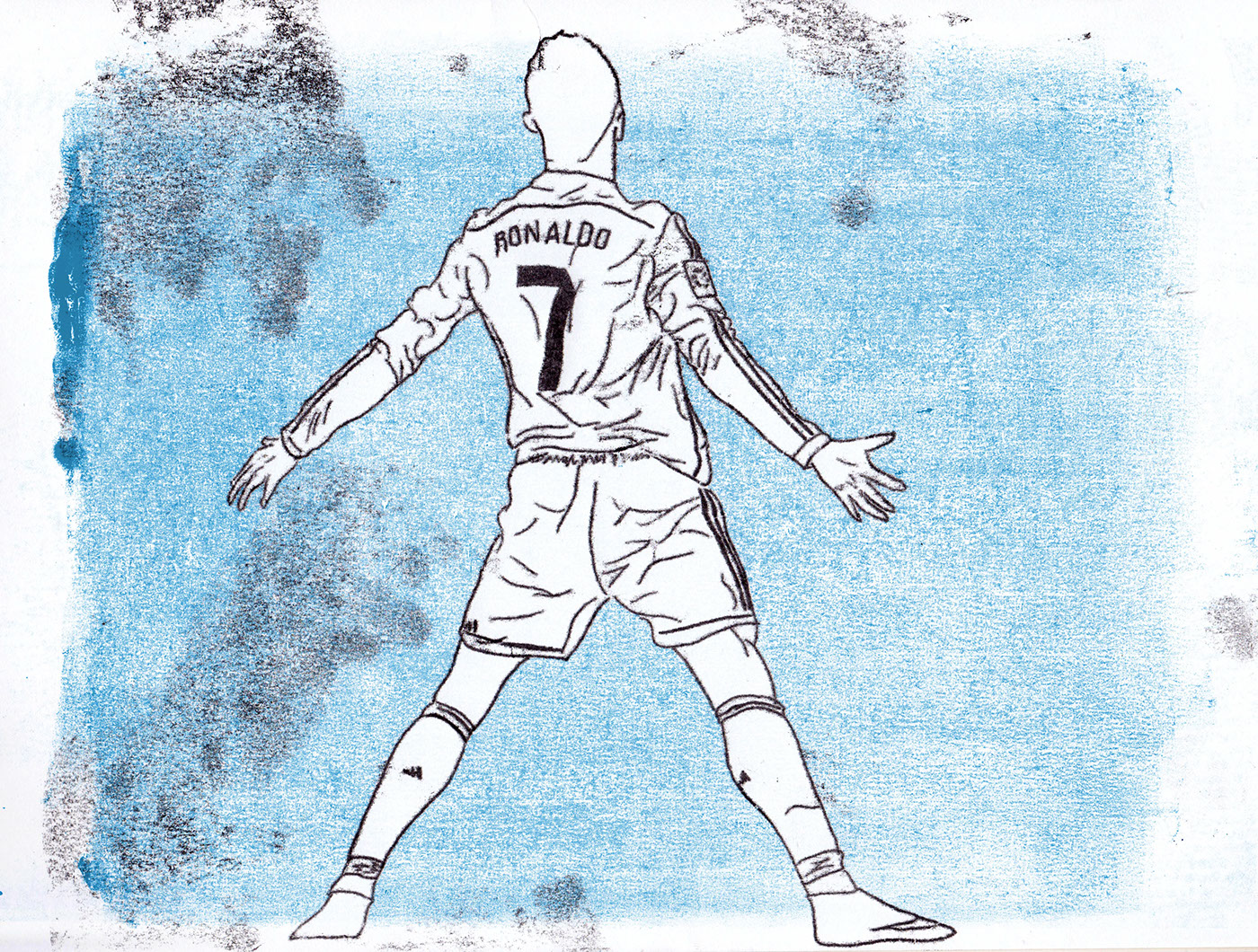 можно рисунки по футболу легкие бывают