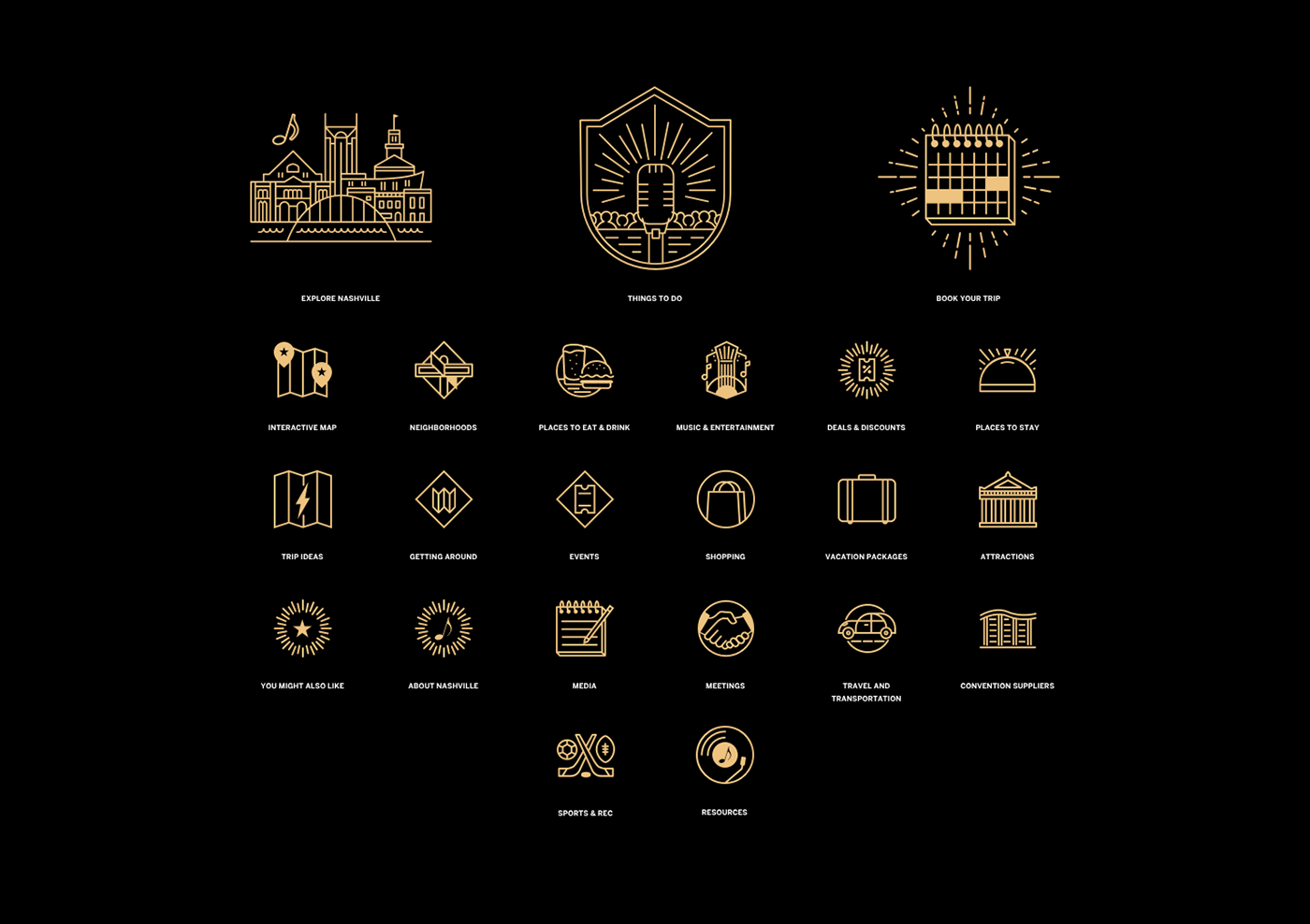 tourism,Nashville,Website,design,music,UI,ux,branding ,Tennessee,Music City