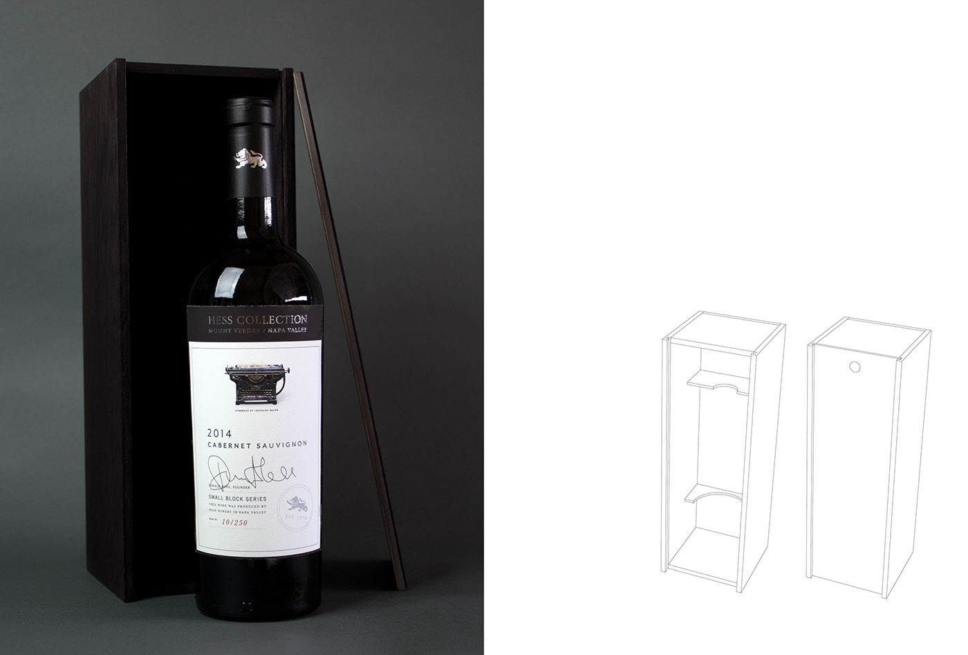Packaging graphic design  wine typography   redesign hess winery