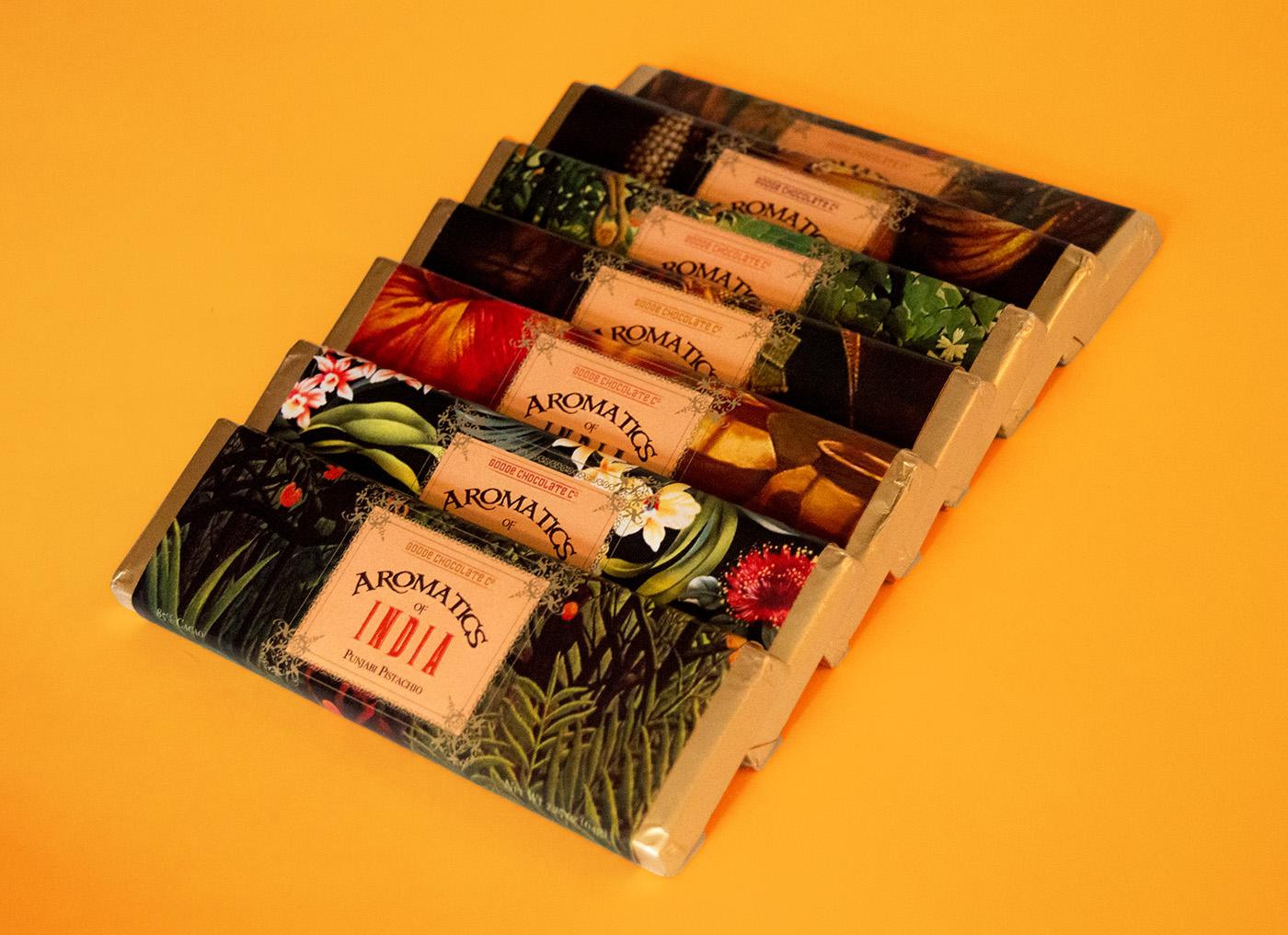 Aromatics of India chocolate bars