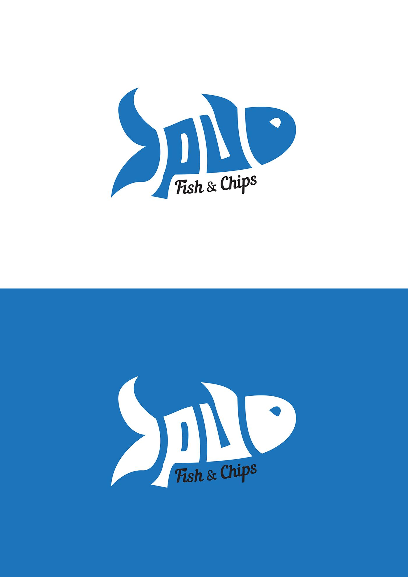 fish & chip fish shop fish logo food logo takeaway logo fish shop identity