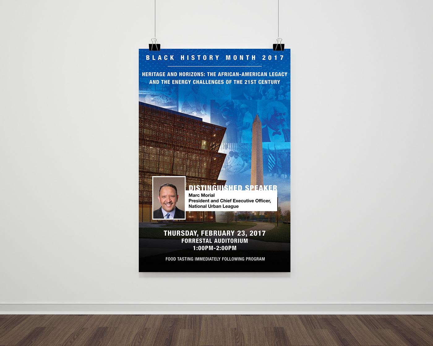 Black History Urban League Promotion Poster Design dept of energy