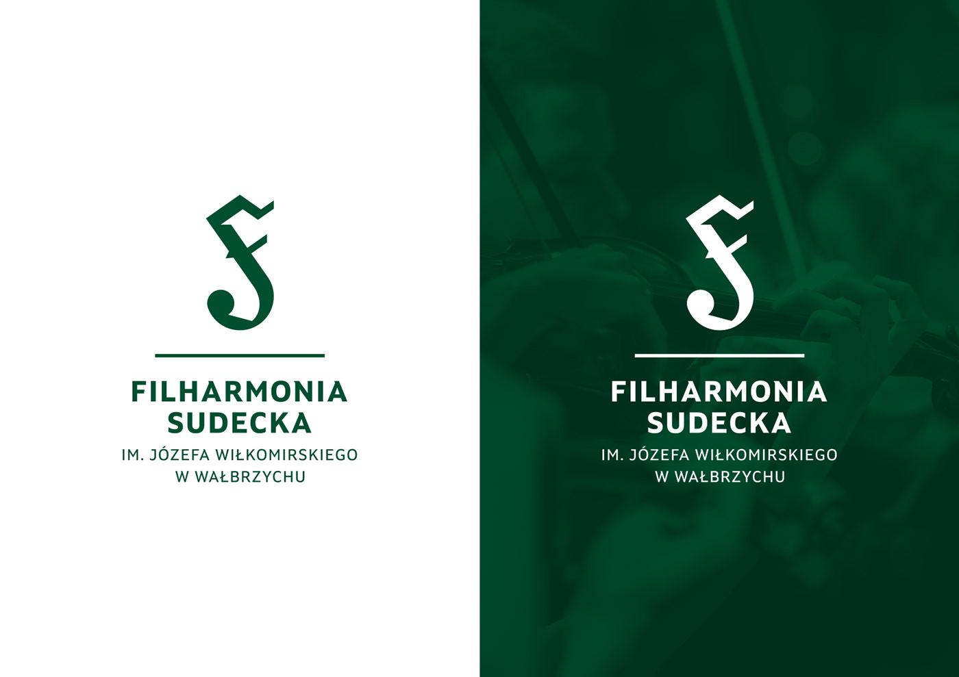 filharmonia identity identyfikacja wizualna instrument logo Logo Design monogram orchestra philharmonic symbol