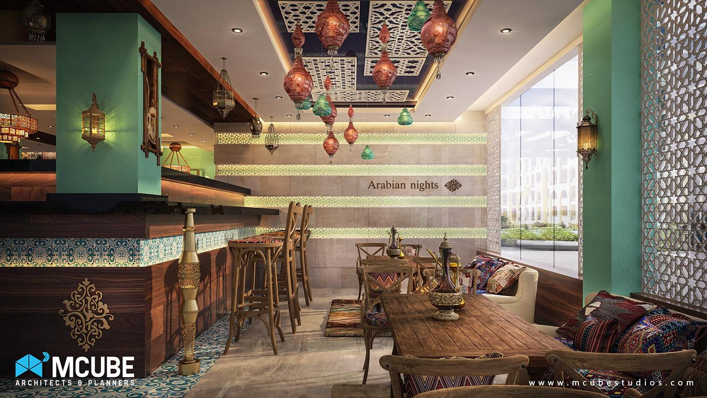 restaurant bohemian Interior oriantal arabian cafe interior design  antiqe islamic colorful