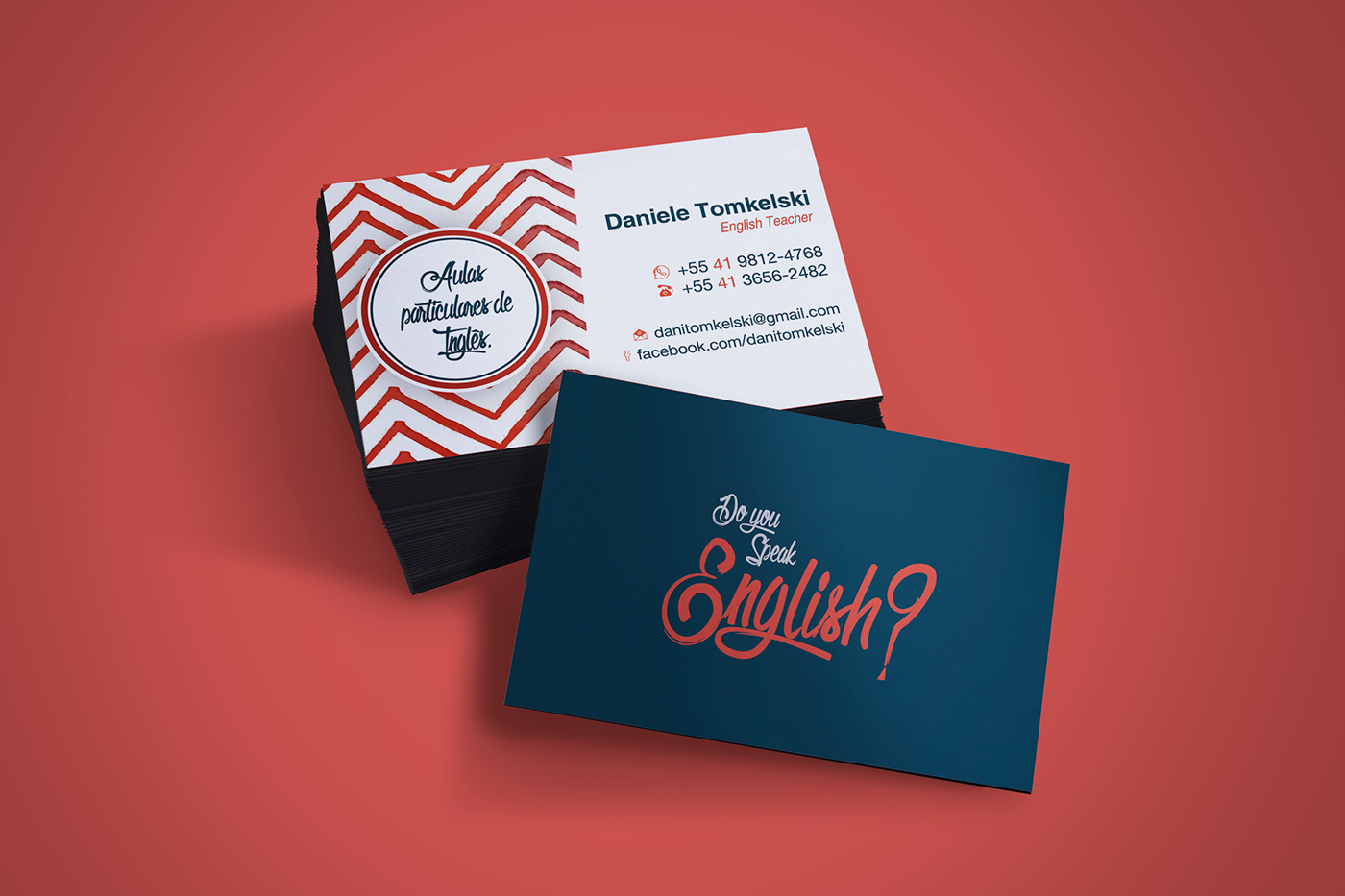 business card english teacher  behance