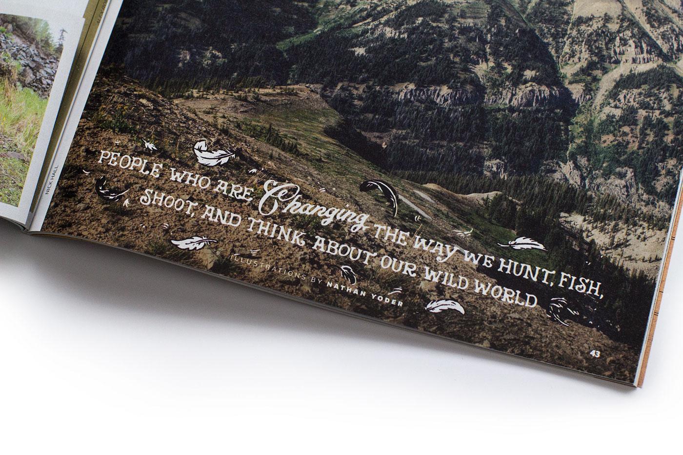 ILLUSTRATION  HAND LETTERING lettering eagle fish animals editorial
