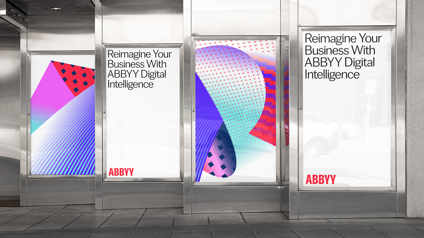 branding  digital graphic design  identity logo motion posters abby gradient red