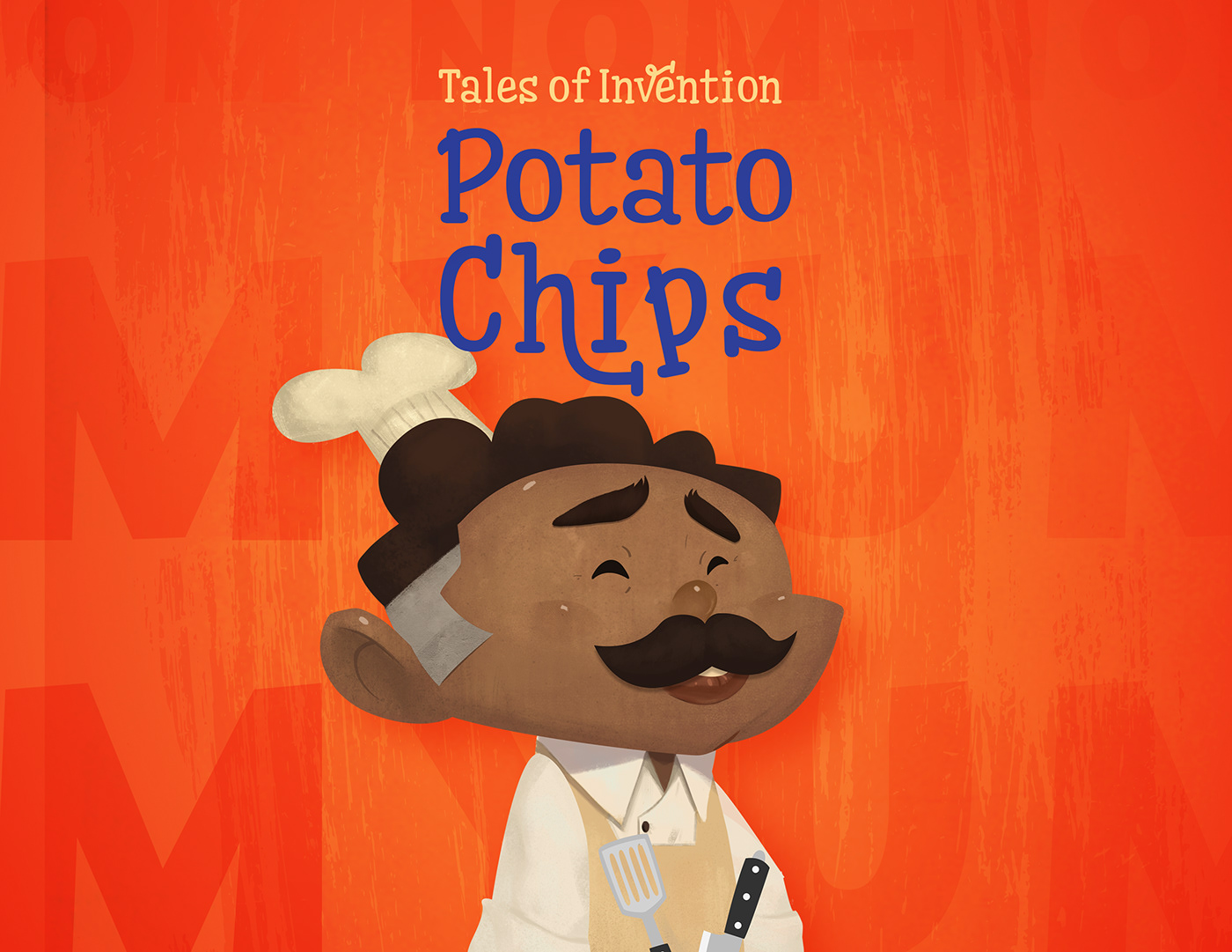 2D amrit Character chips geroge crum Illustrator invention potato storybook TALES