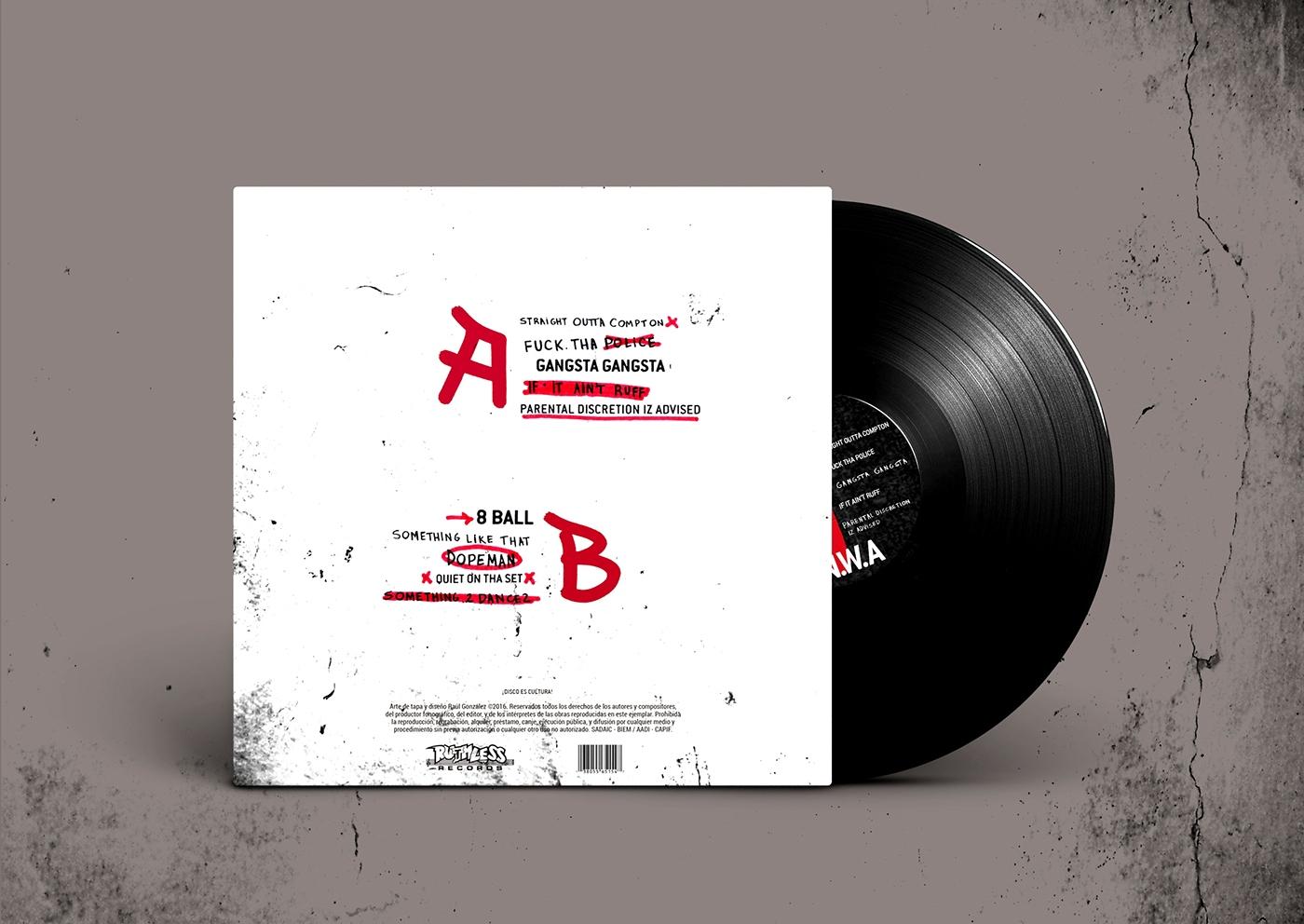 NWA vinilo ice cube Dr Dre hip hop rap graffitti music tipografia cosgaya