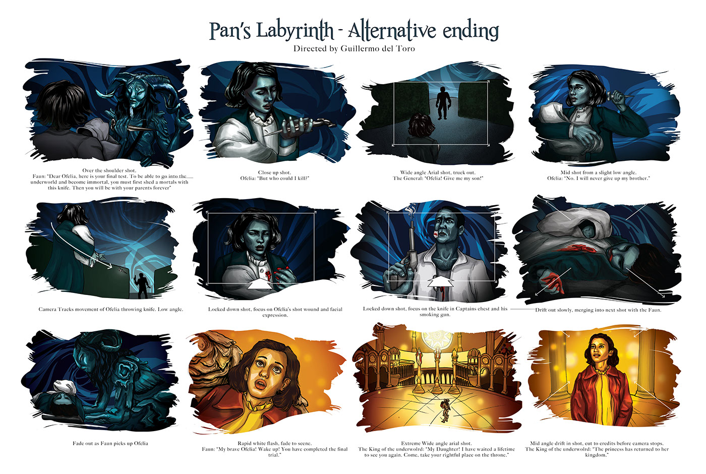 Pans Labyrinth - Storyboarding and Infographic on Behance