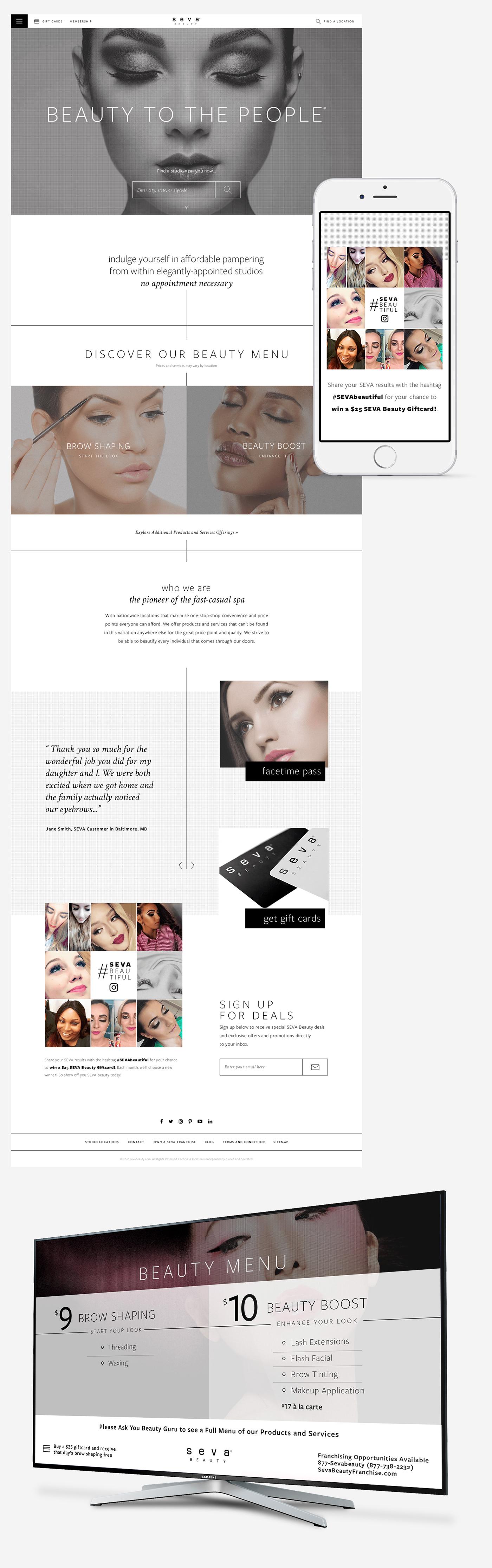 beauty Health Spa luxury Fashion  Web Design  Website Design modern sexy chic