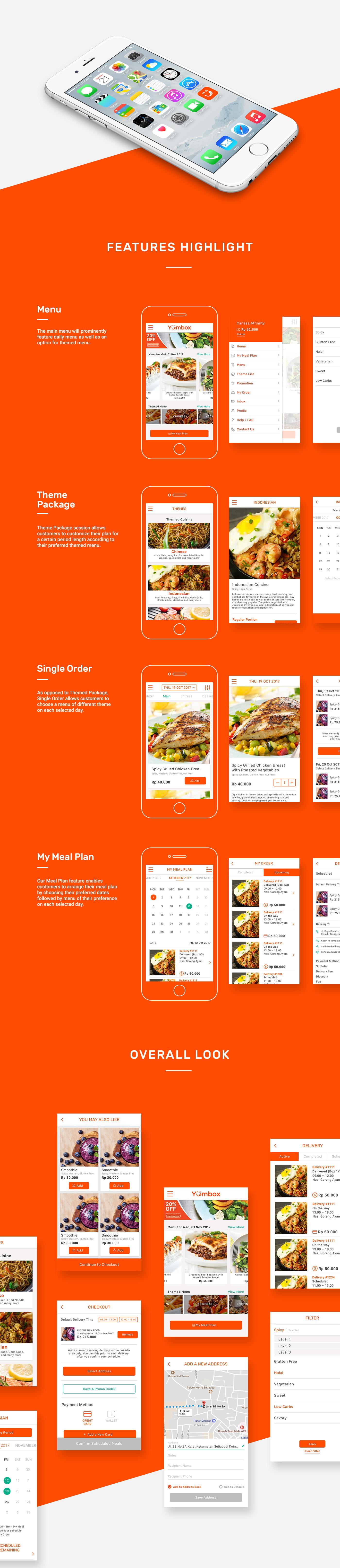 Food  UI ux branding