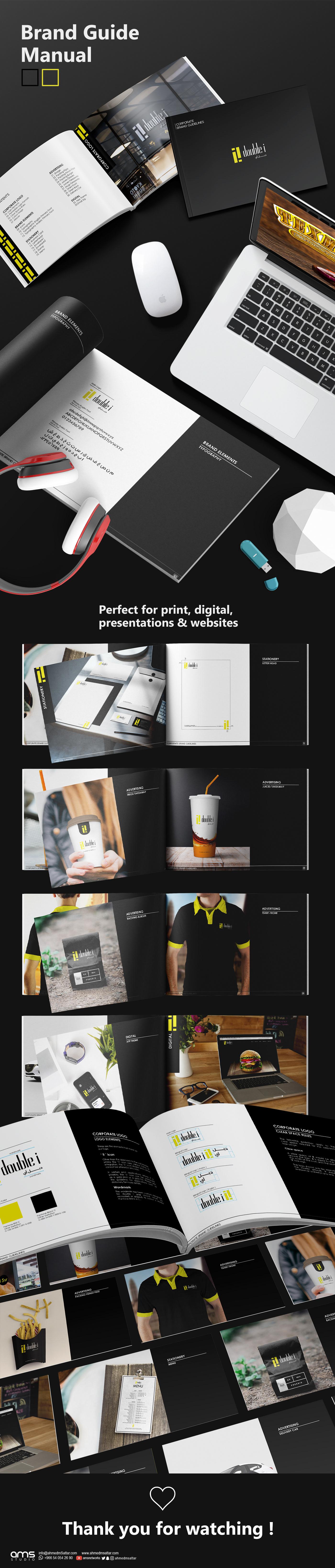 brand branding  design Guide manual resturant
