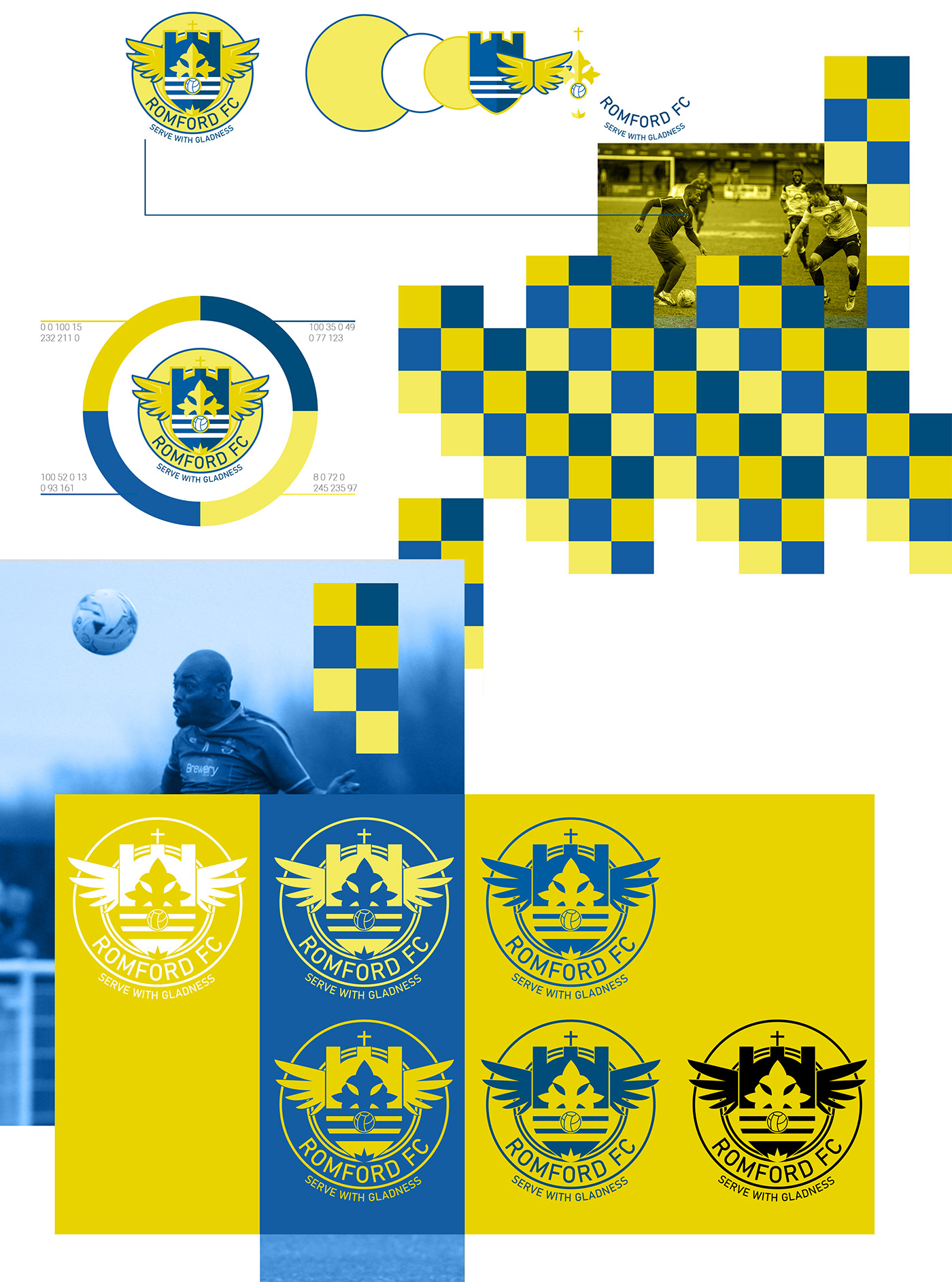 football soccer Rebrand gleen tamplin Romford Futbol premier