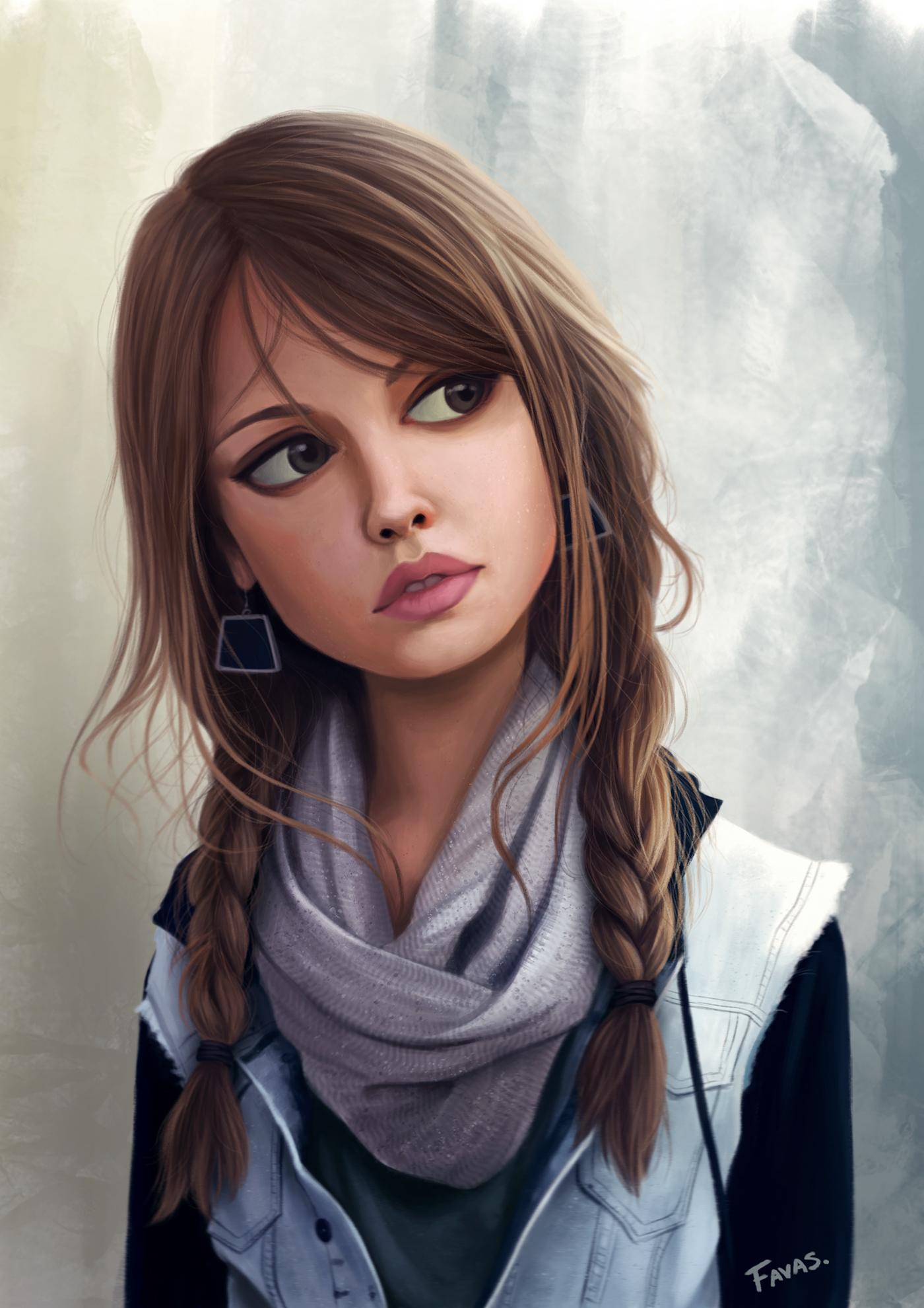 Красивые картинки красивых девочек нарисованных