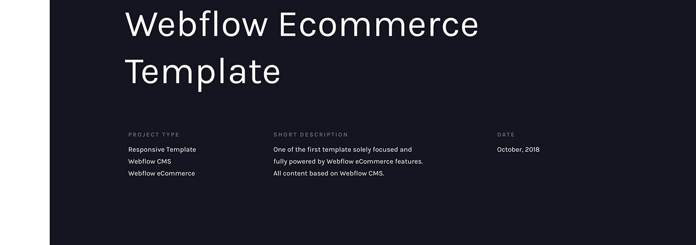 Webflow template Ecommerce Webdesign UI cart Blog Coffee styleguide Case Study