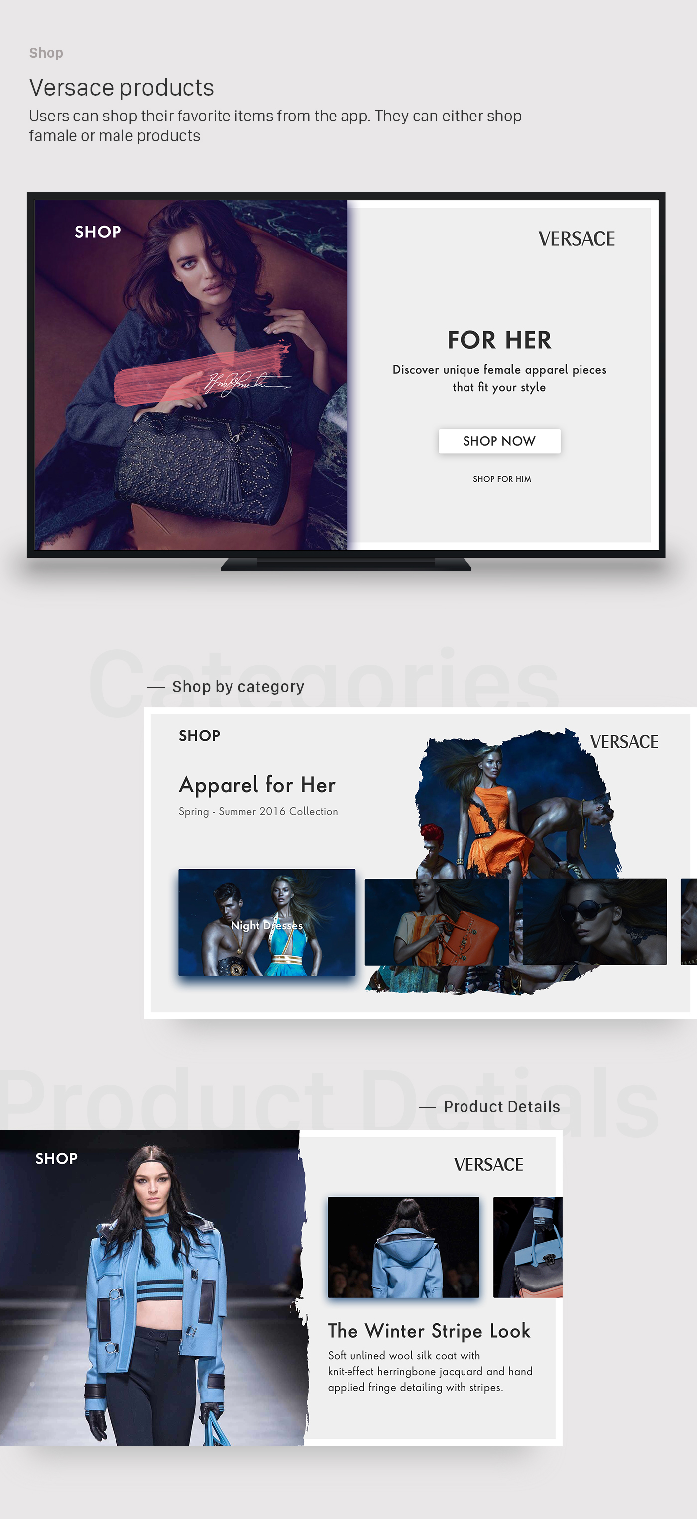 Apple tv TVOS VERSACE apple tv Fashion  john noussis