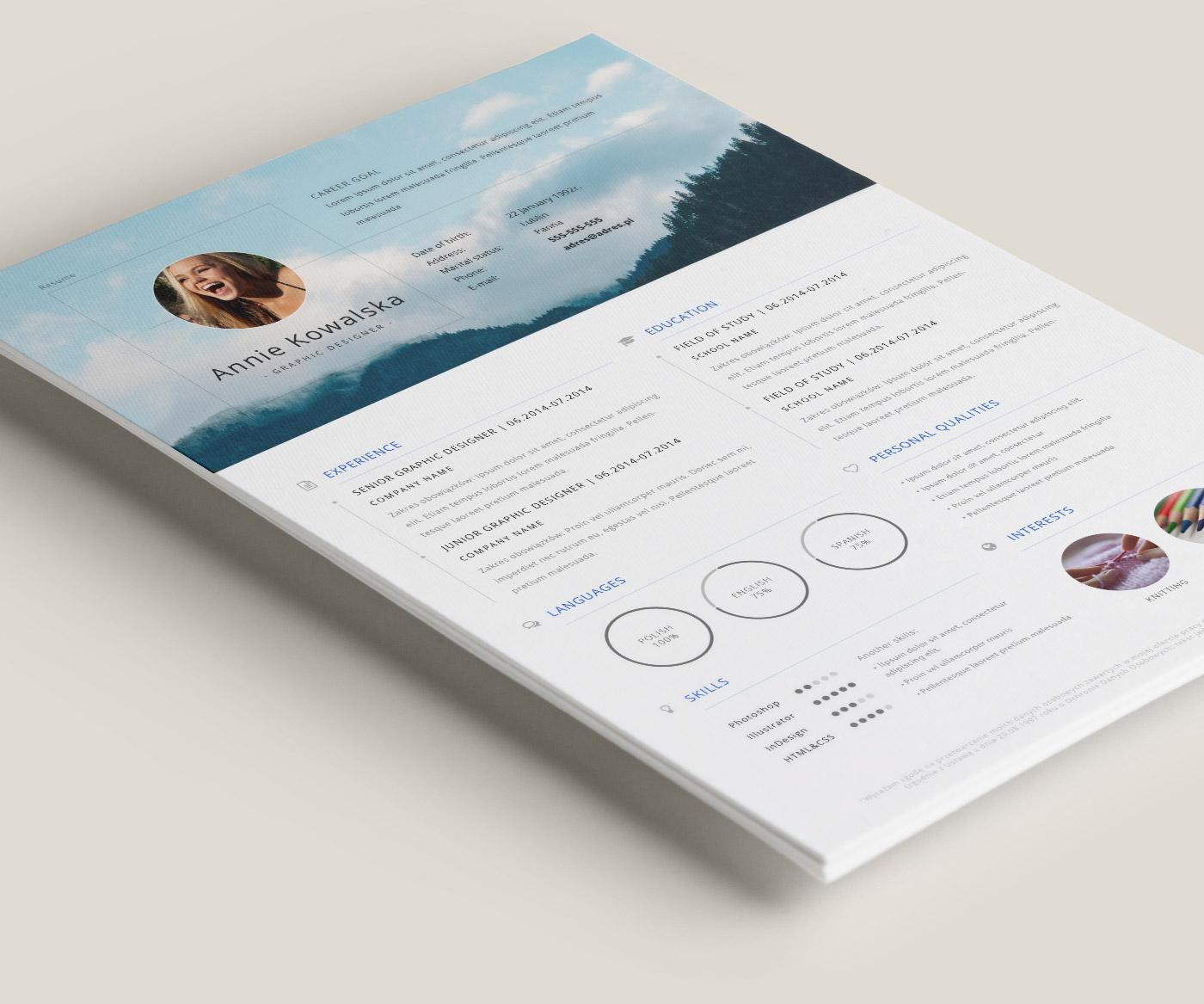 Resume In Adobe Illustrator