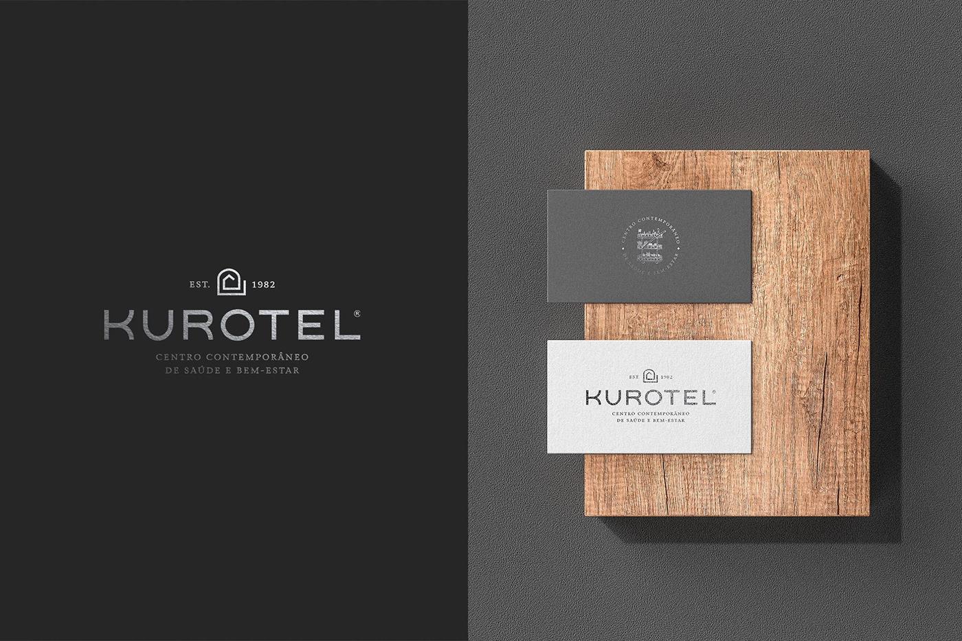 design brand branding  graphic KUROTEL VALKIRIA Spa Health vlk stationary