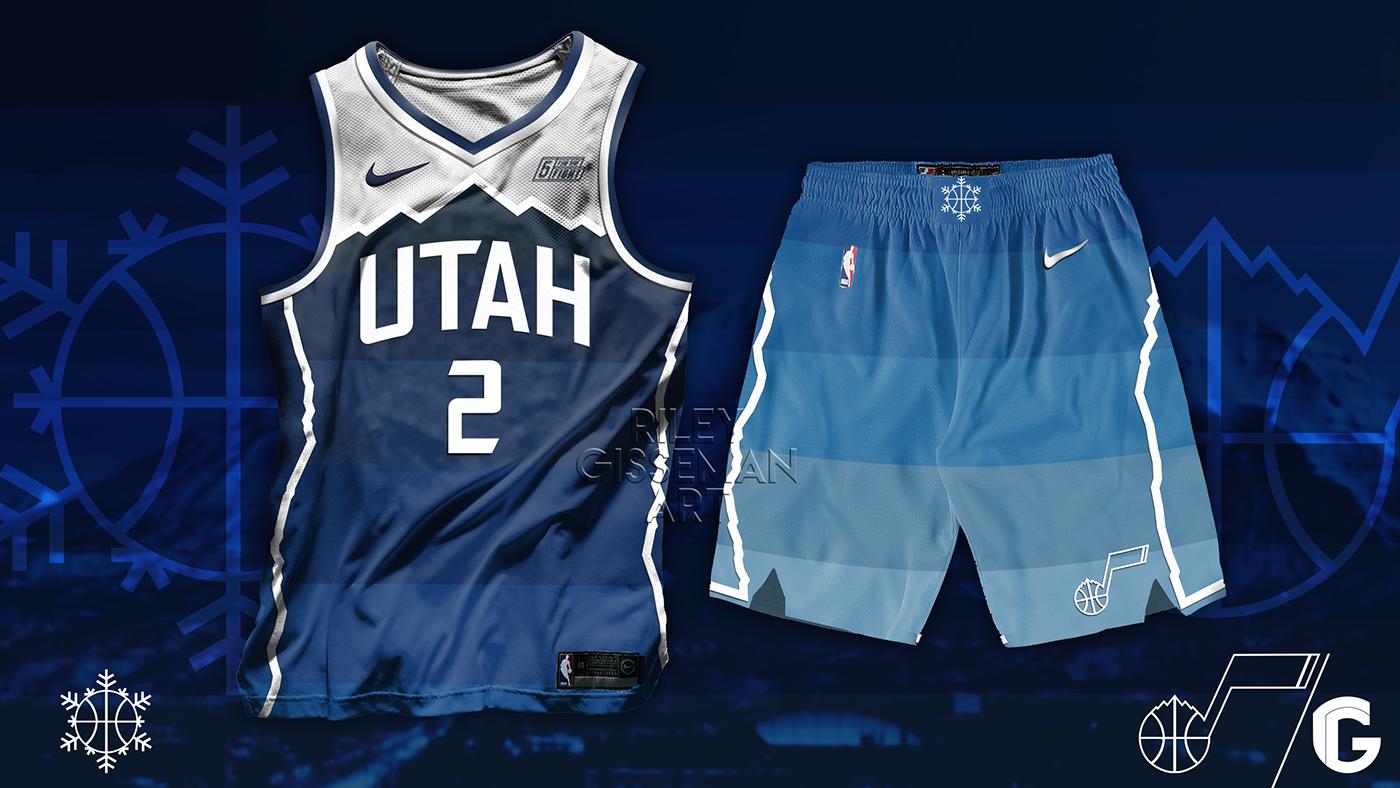 """2019 Nike-Utah Jazz Concept """"City"""" Kits On Behance"""
