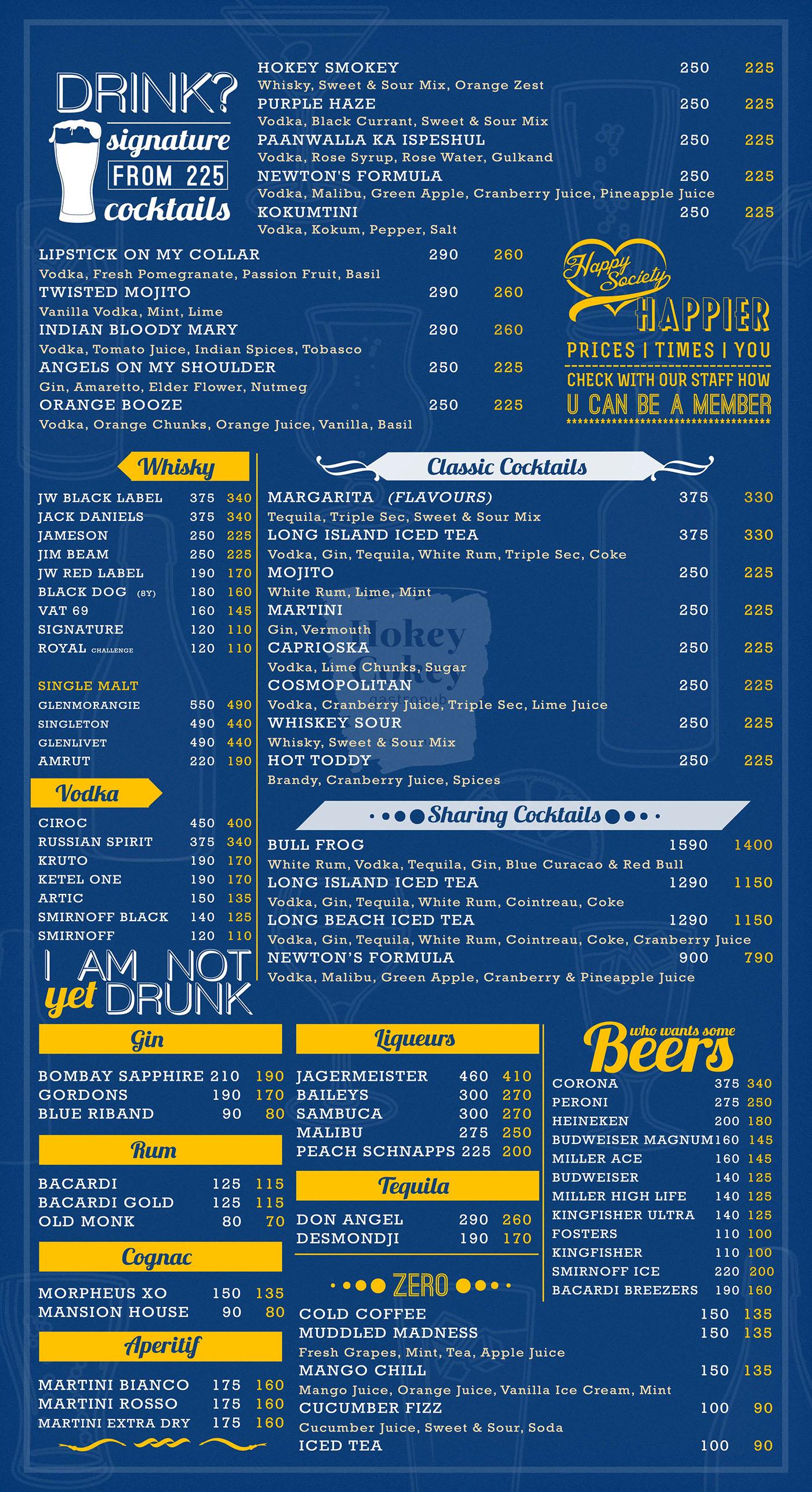 Alchohol & Beverage Menu Design for Pub on Behance