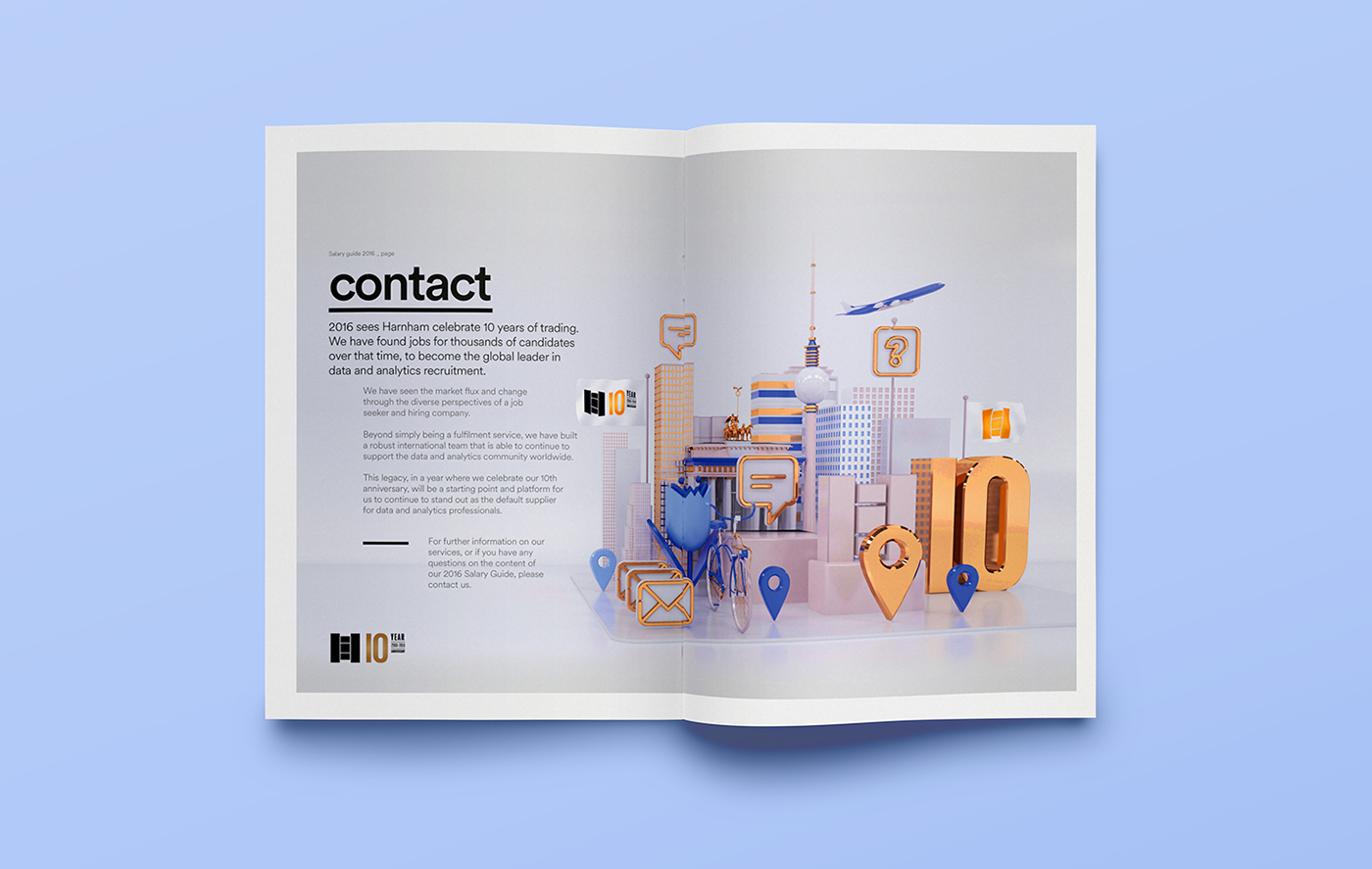 Illustration & Typography: Harnham Salary Guide (2016)