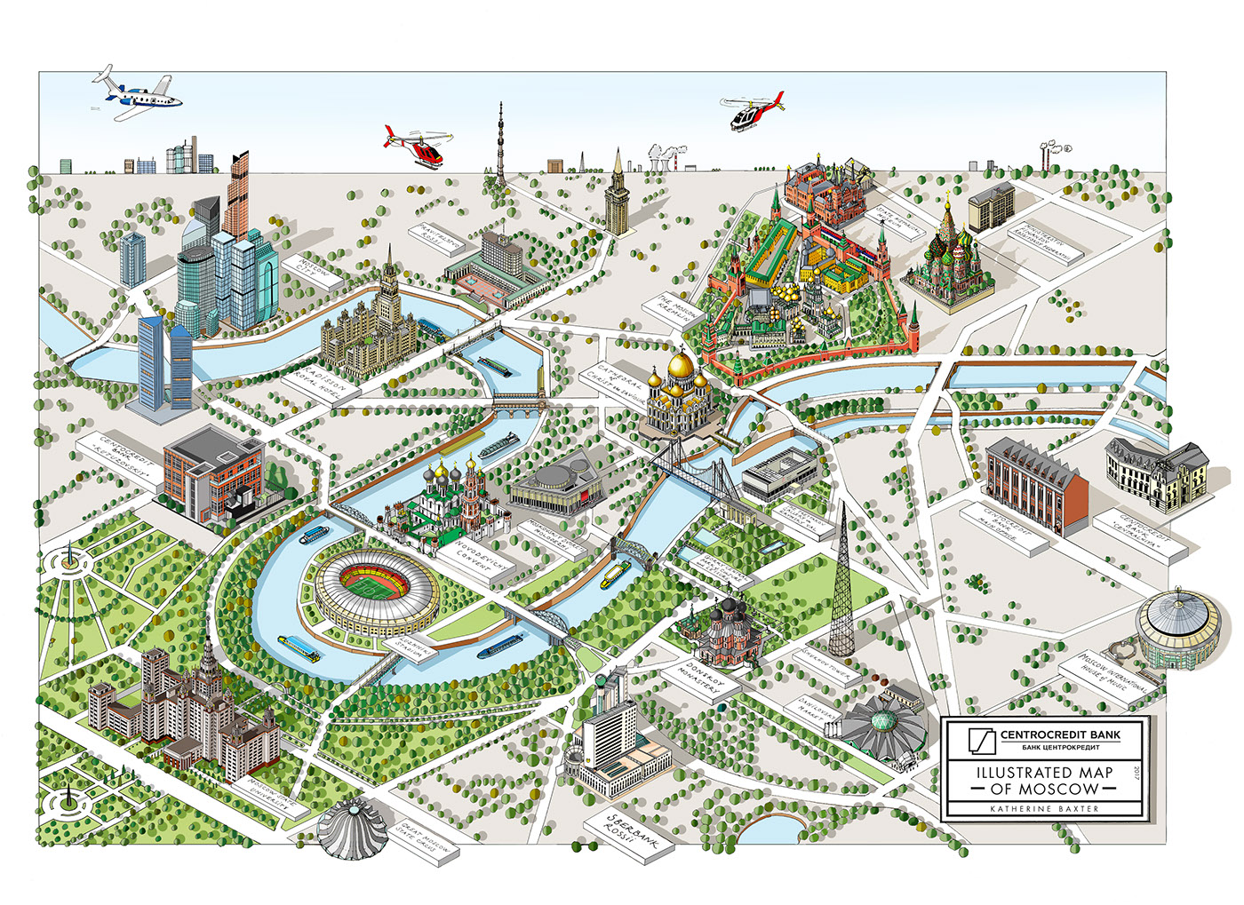 MOSCOW illustrated map on Behance