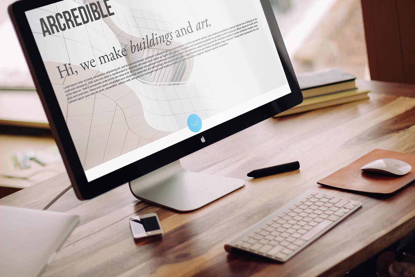 Web Design  Website Mockup architecture mock up template Website Design