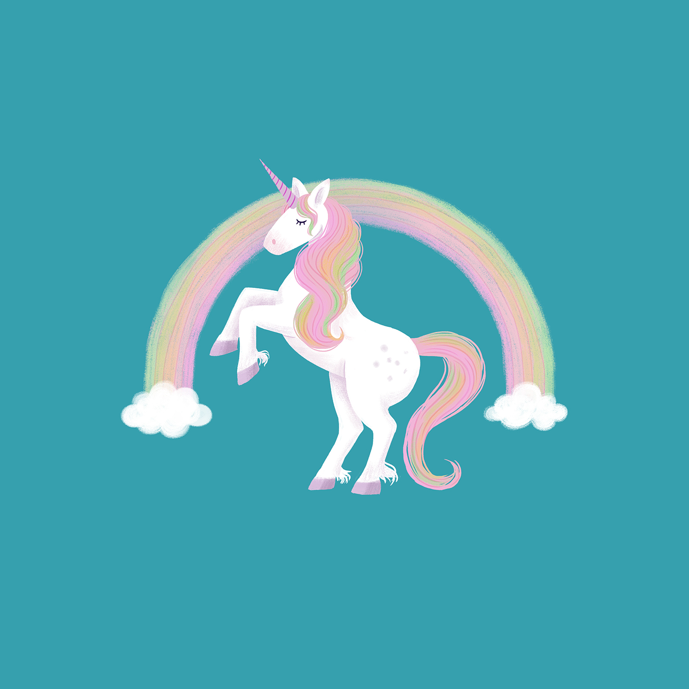 unicorn rainbow pattern design  surface design kids childrens illustration girls Magic   society6 artwork