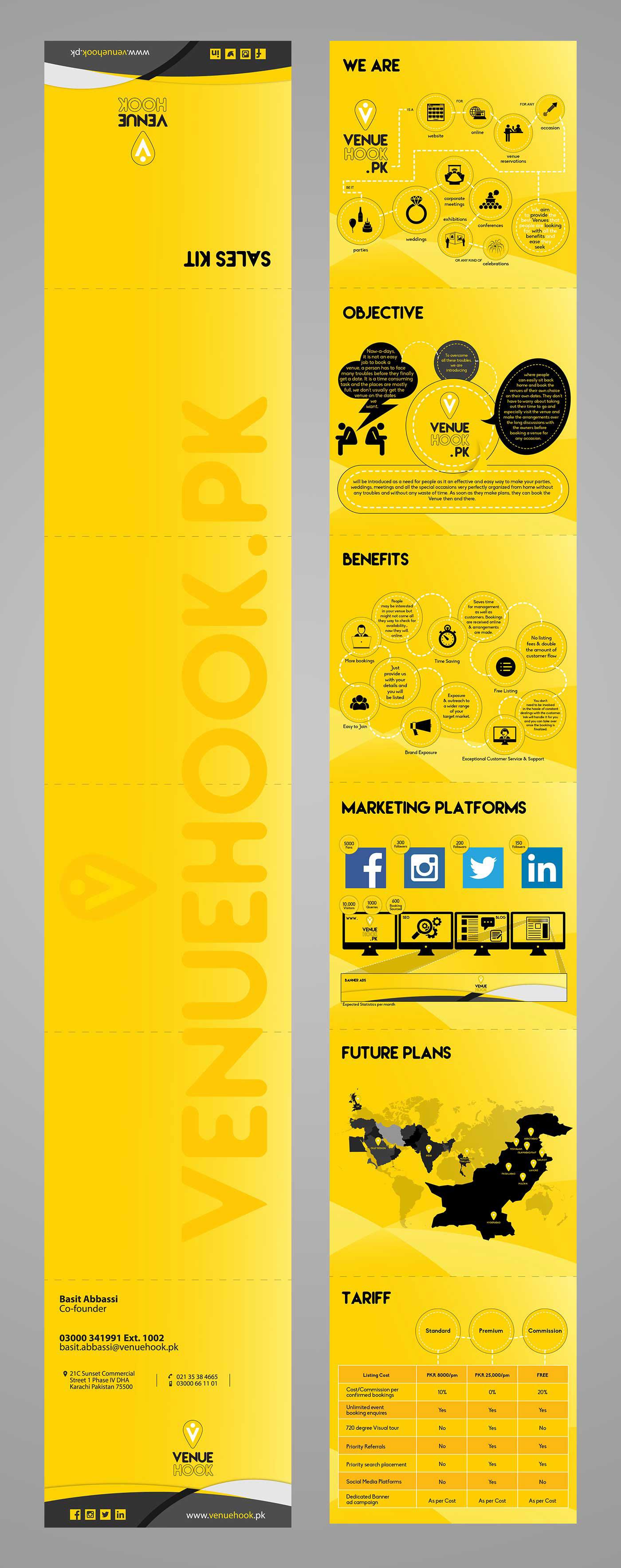 graphic design print sales kit brochure flyer venue hook wedding