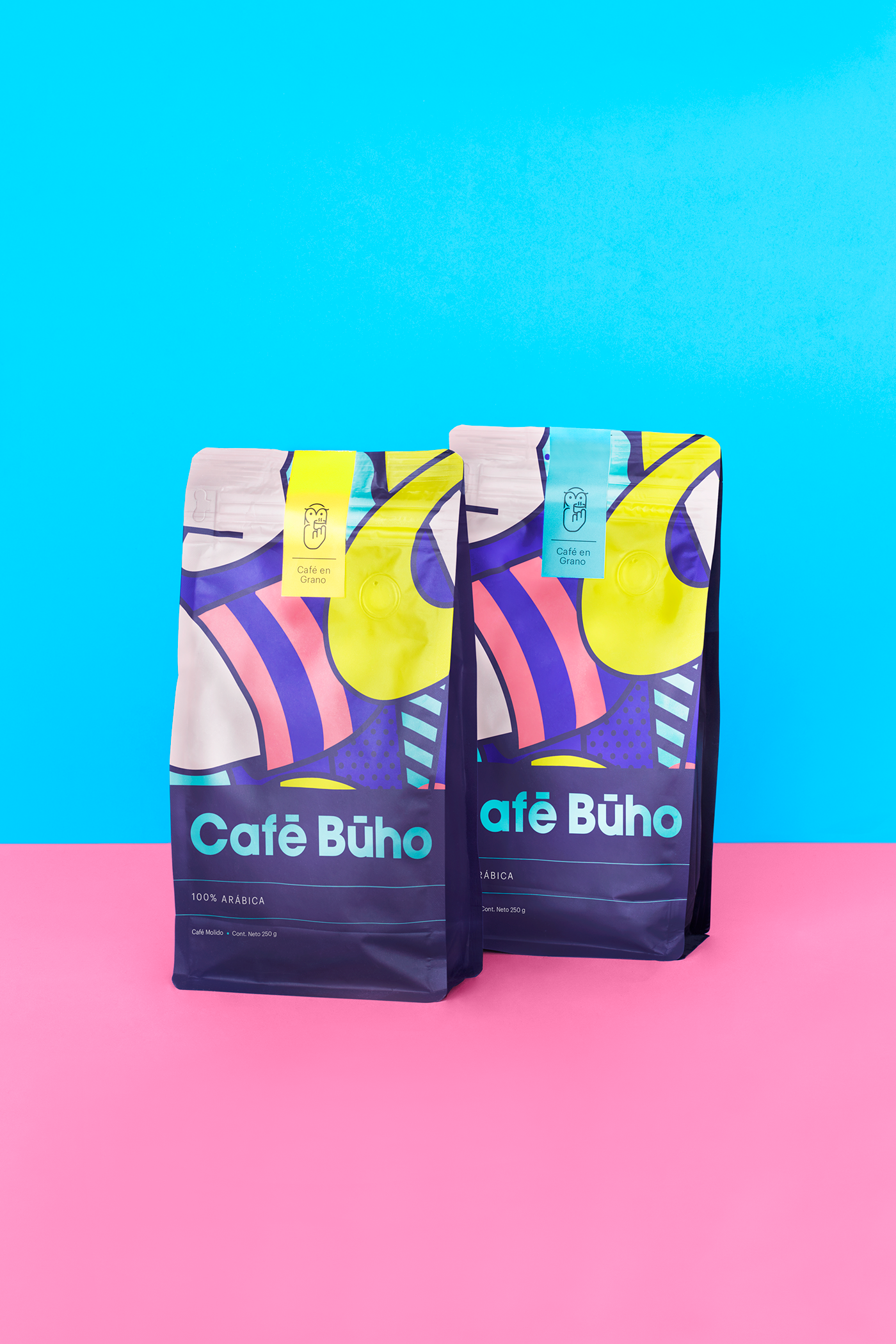 Colorful Brand Identity for Cafe Buho