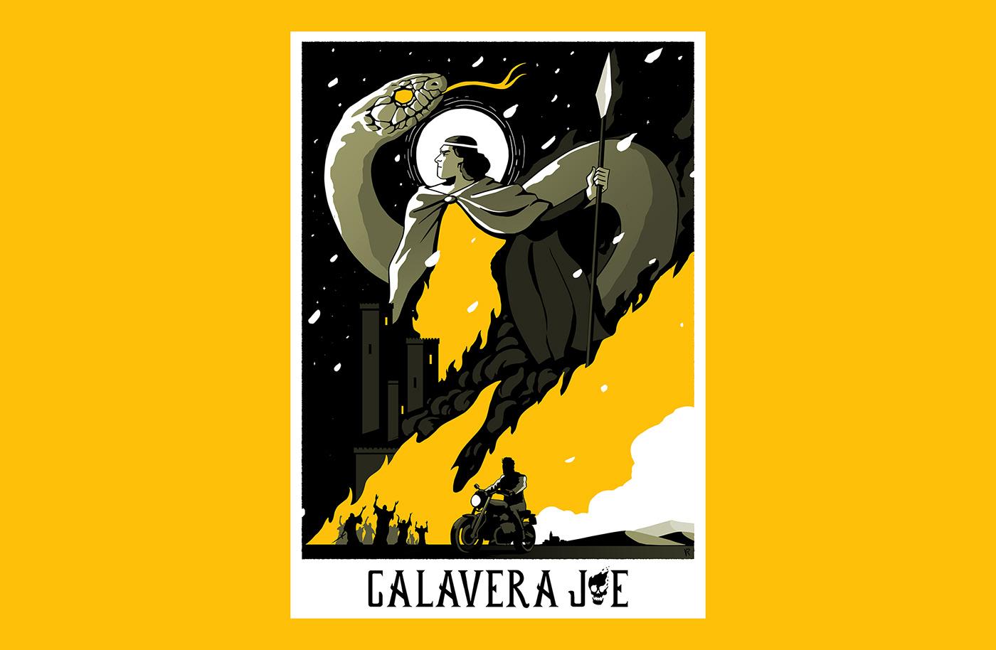 biker poster affiche knight fire posterdesign snake Castle black magic fantasy