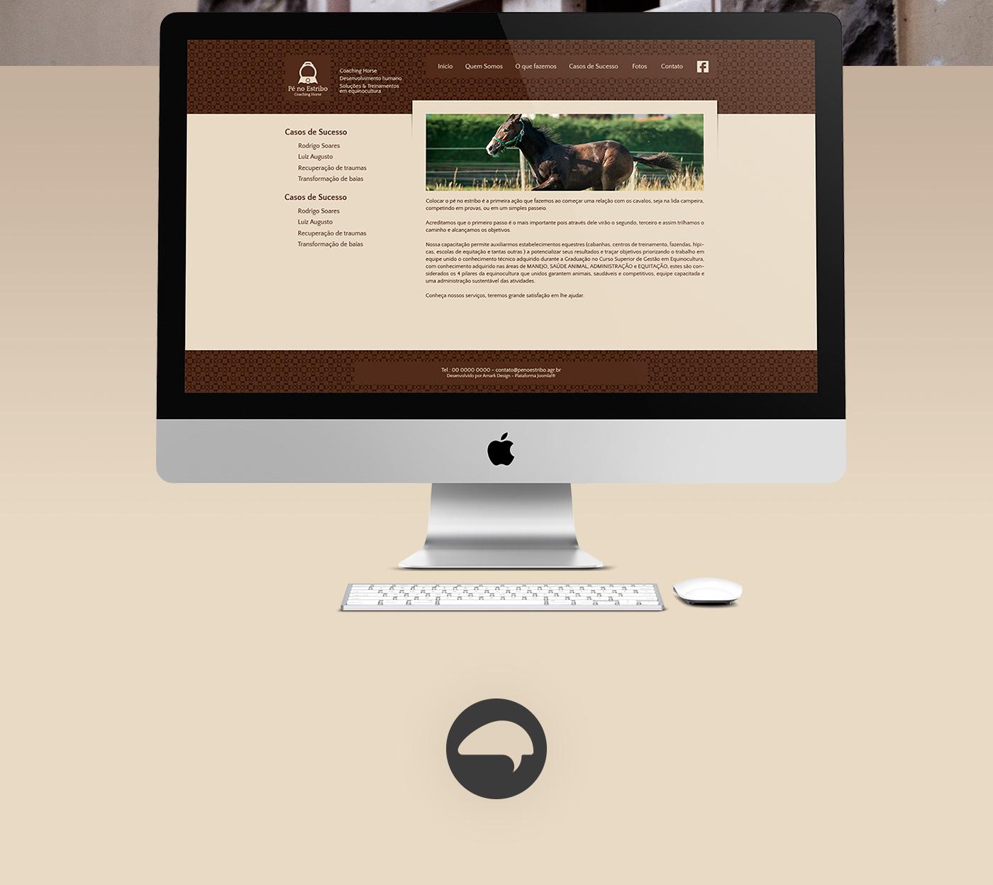 cavalo horse equinocultura gestão  brand logo animal estribo Gaucho brand identity corporate mark