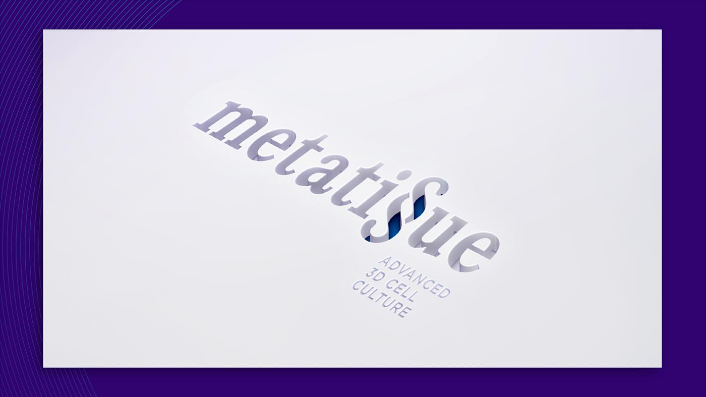 naming branding  Logo Design medical research violet blue graphic design