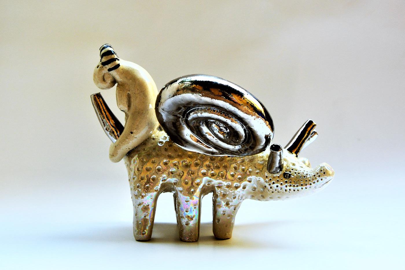 snail olivia weiss sculptures contemporary ceramics new