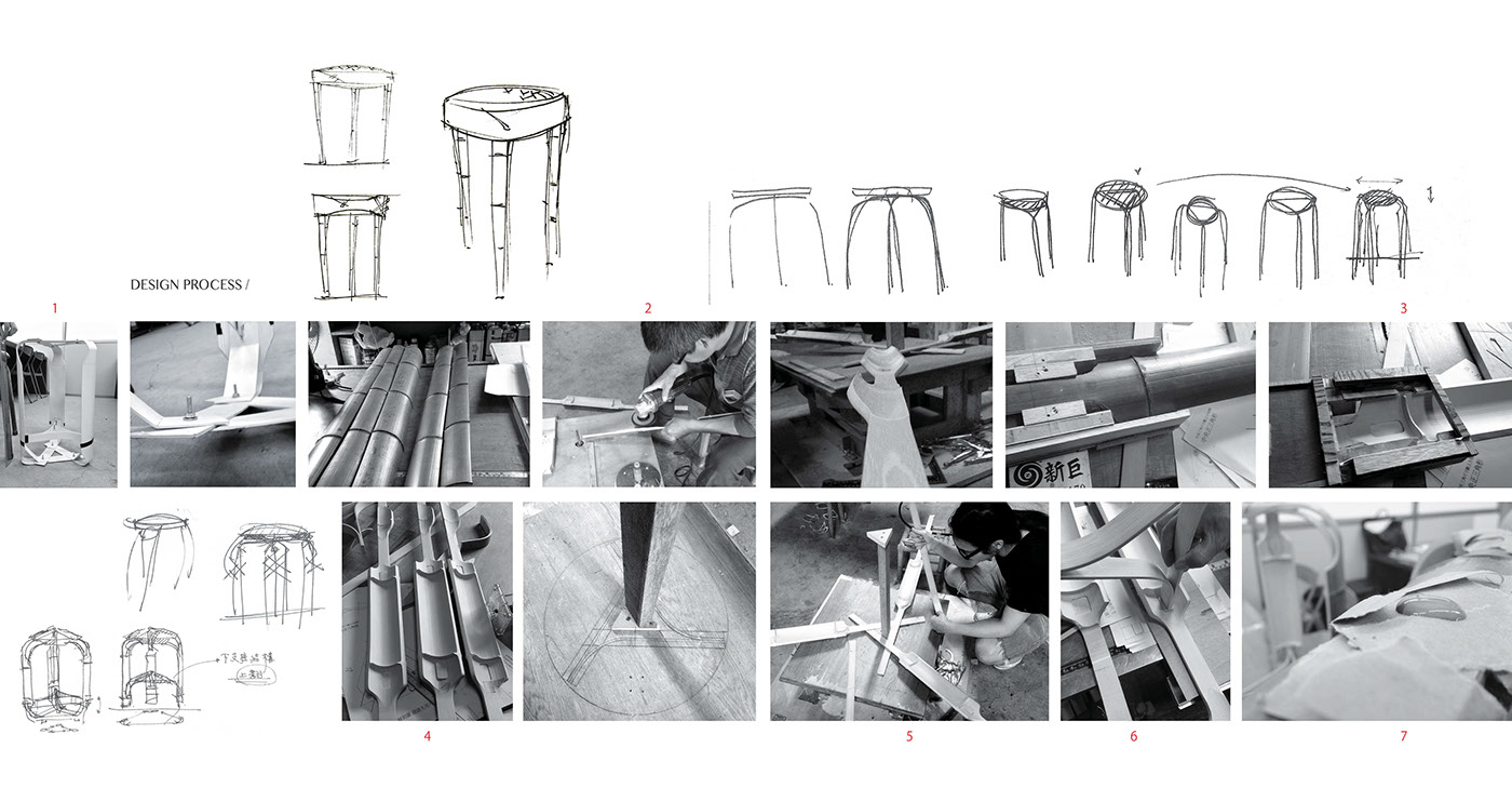 bamboo chair craft material texture furniture cement Form traditional taiwan