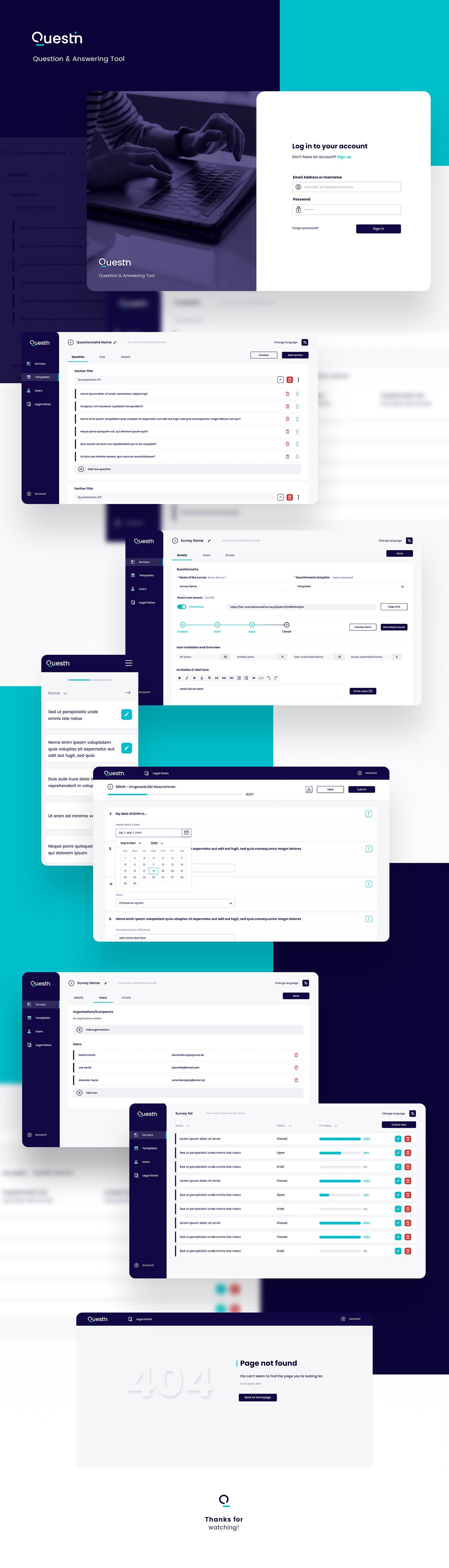 app applicaton clean dashboard minimal question UI uidesign user interface ux