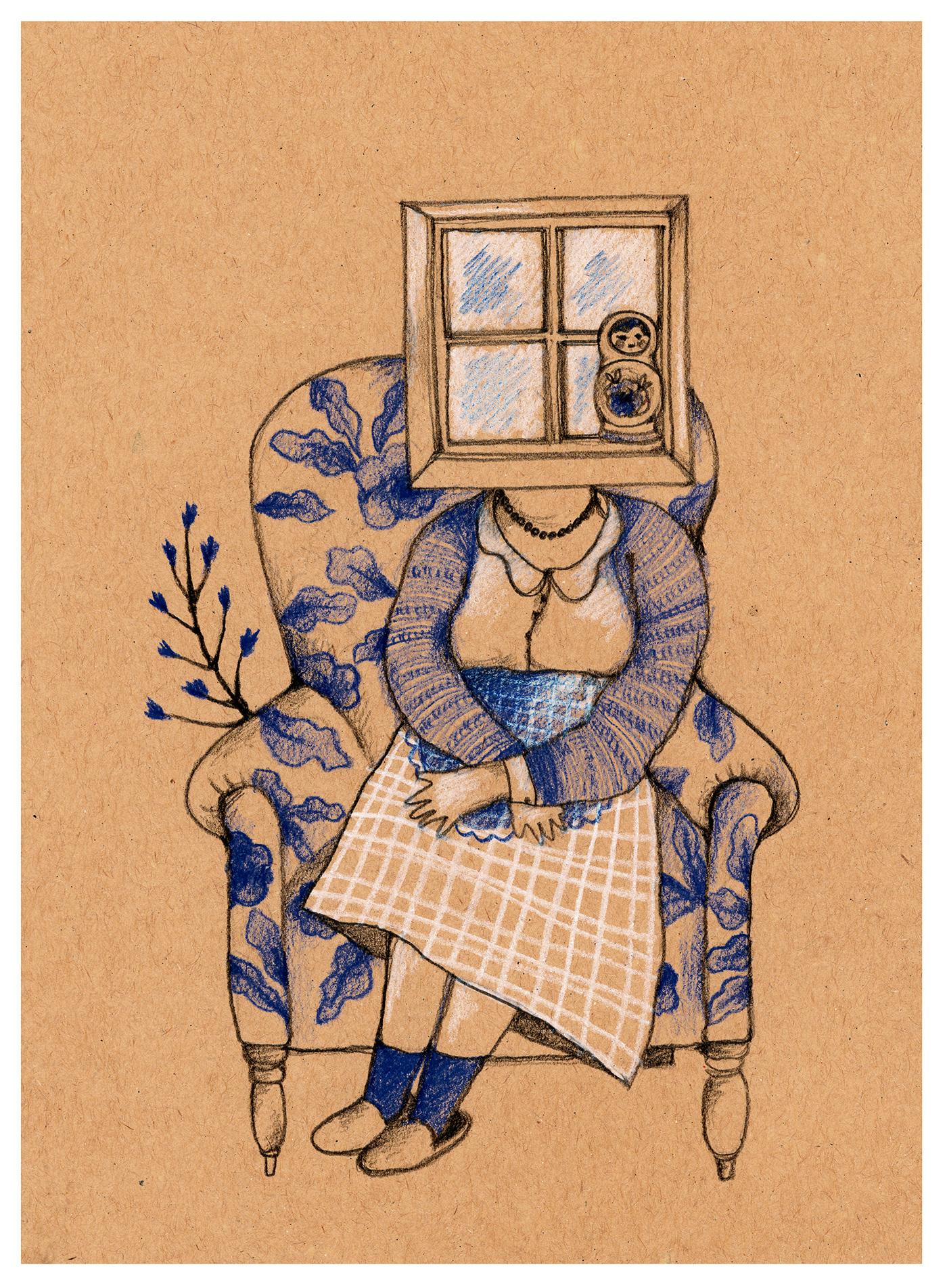 historias ilustracion postales